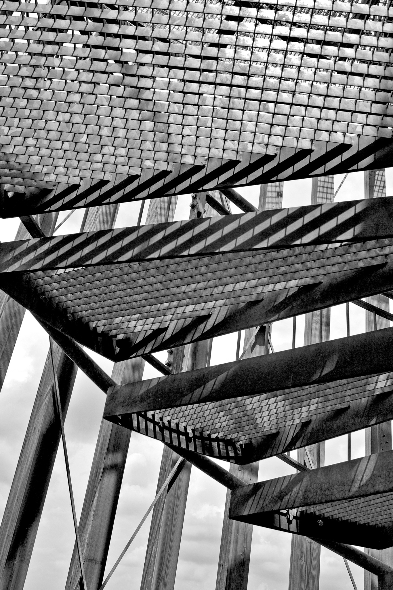 Structure the observation tower by Ines Linke