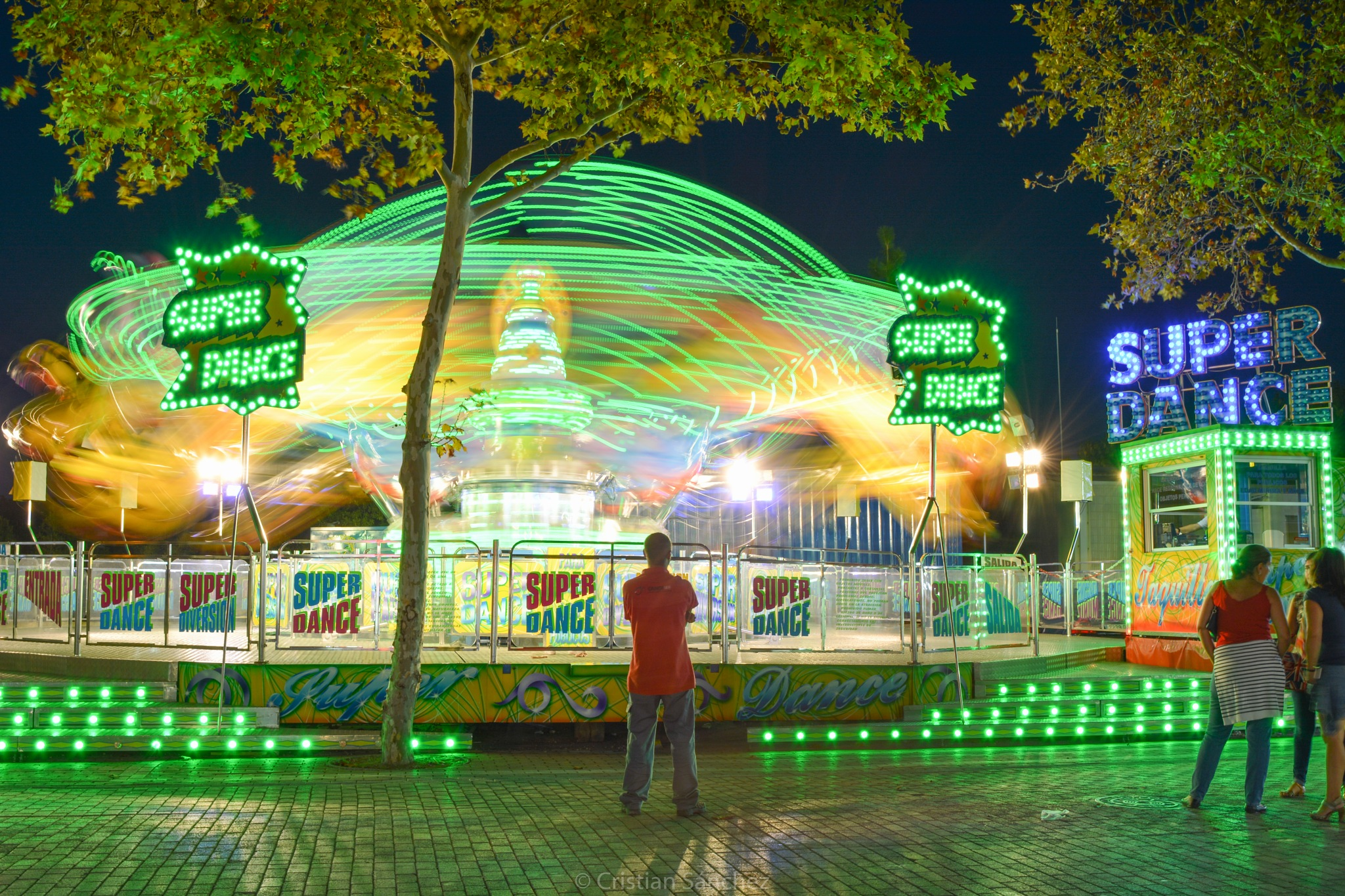 Fusion of lights at the fair. by cristianphotography