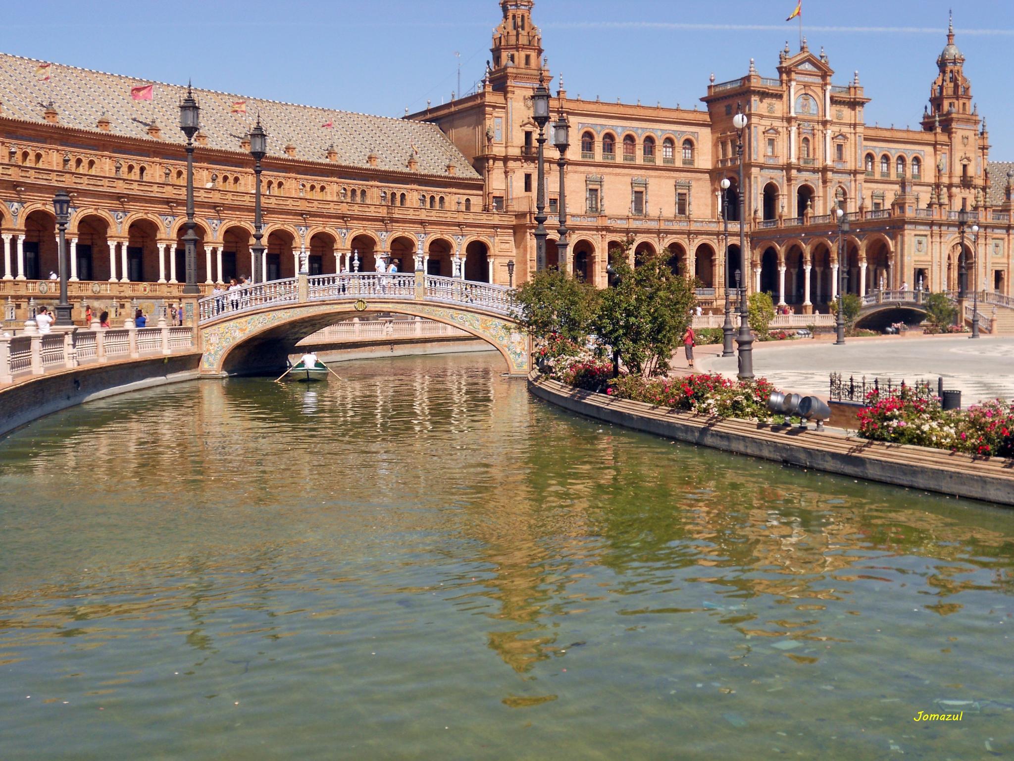 Praza de España (Sevilla) by Jomazul Varela