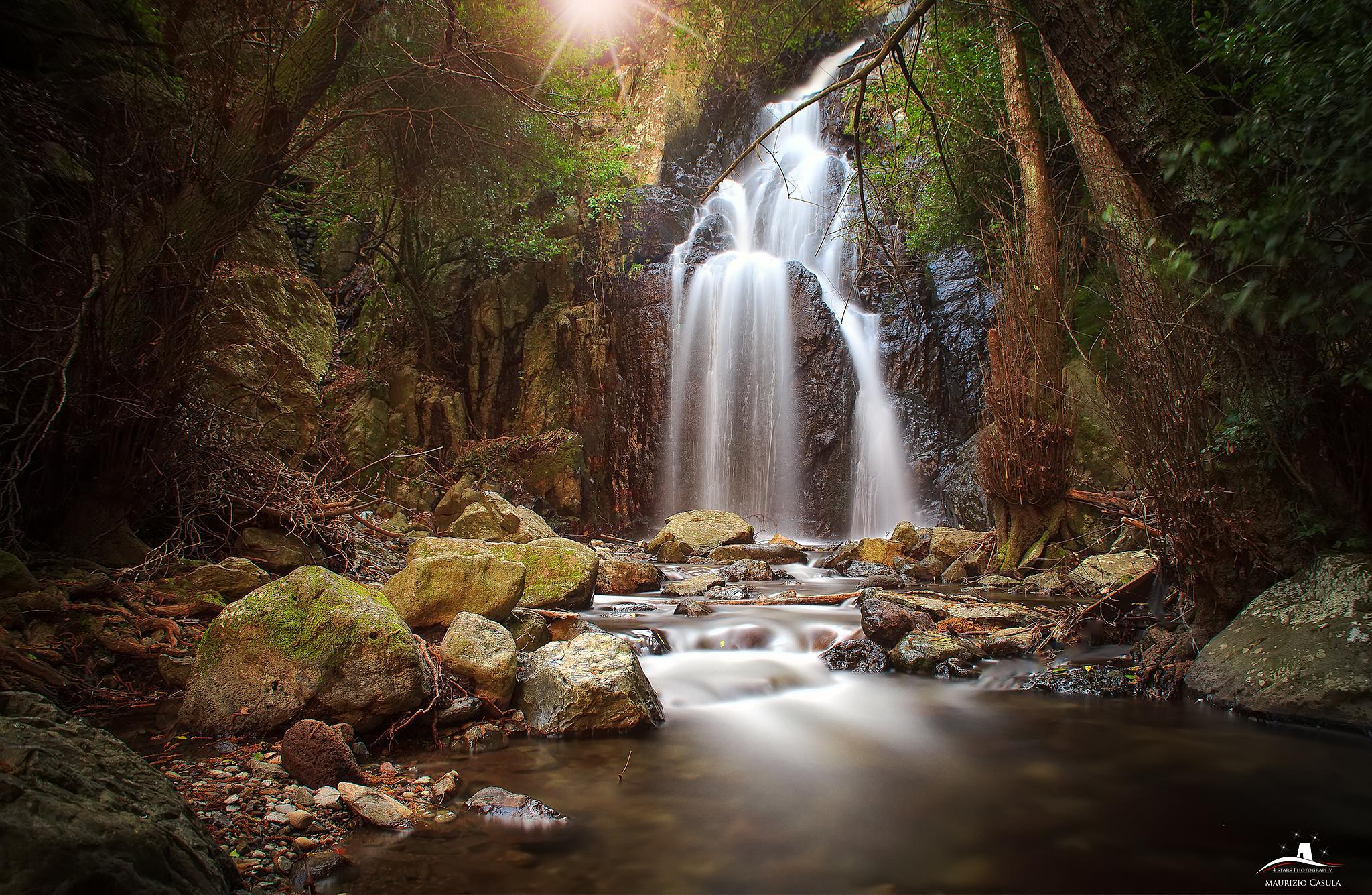 Waterfall made in Sardinia by Maurizio Casula