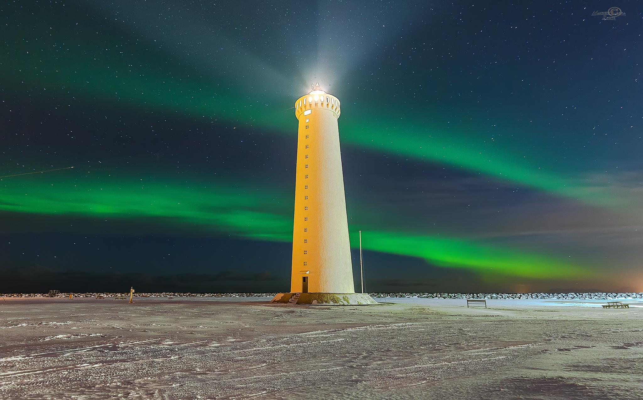 Gardur Lighthouse by Maurizio Casula