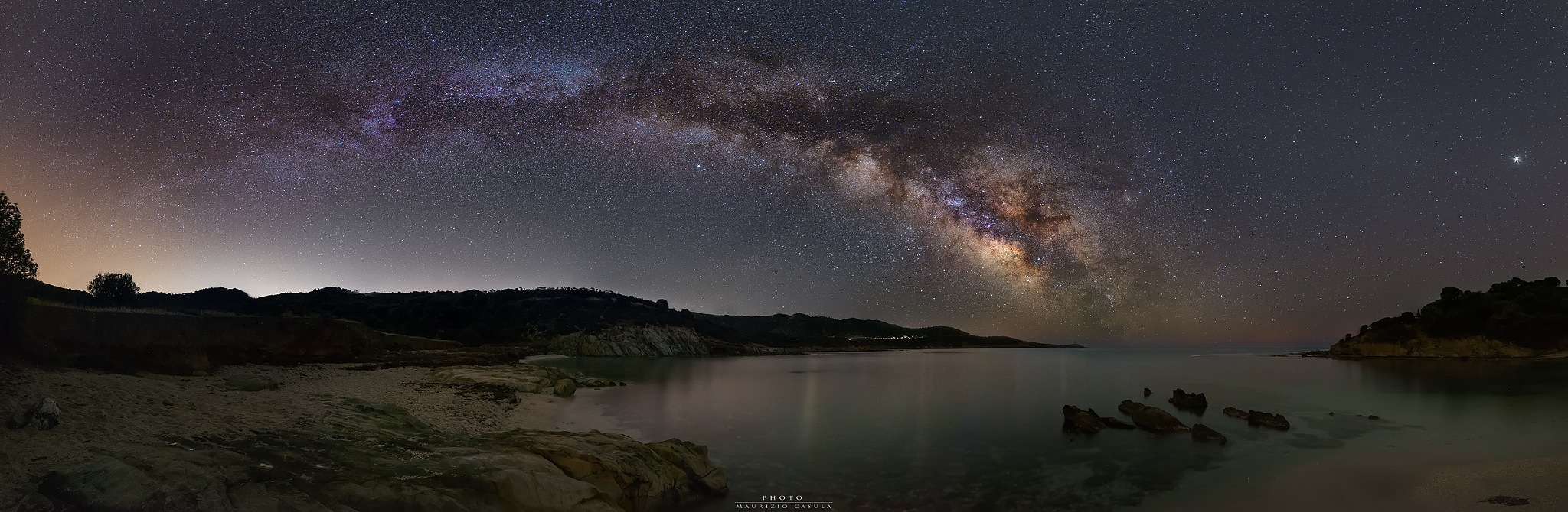 The beautiful arch of the Milky Way by Maurizio Casula