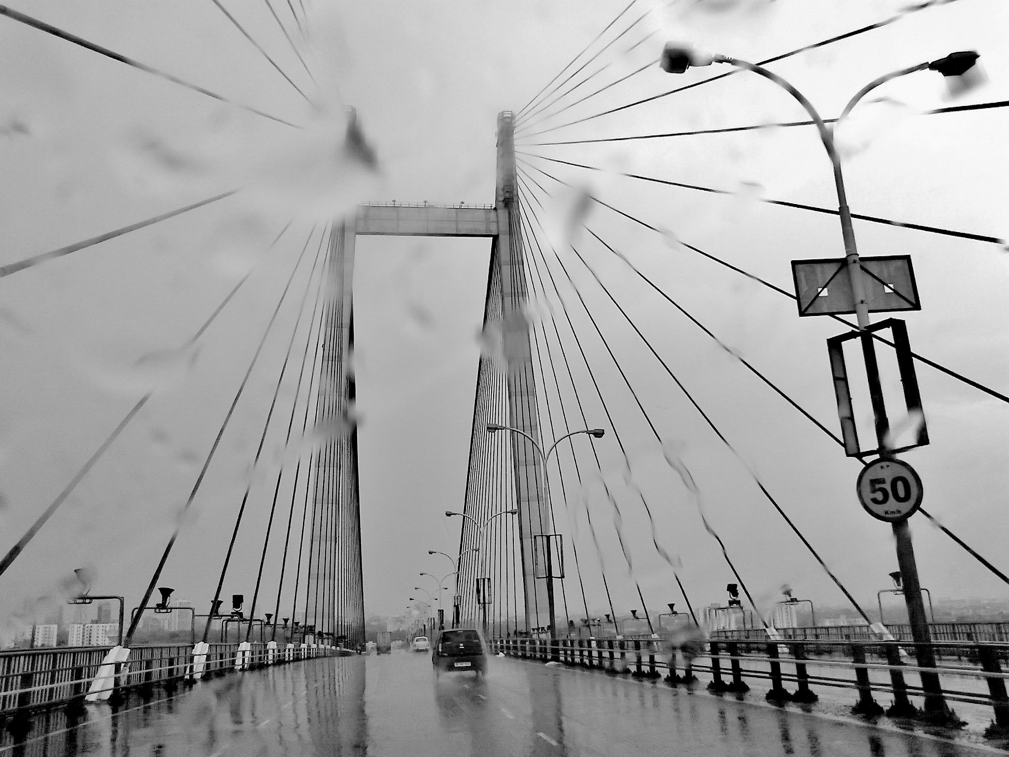 Photo in Black and White #abstract #bridge