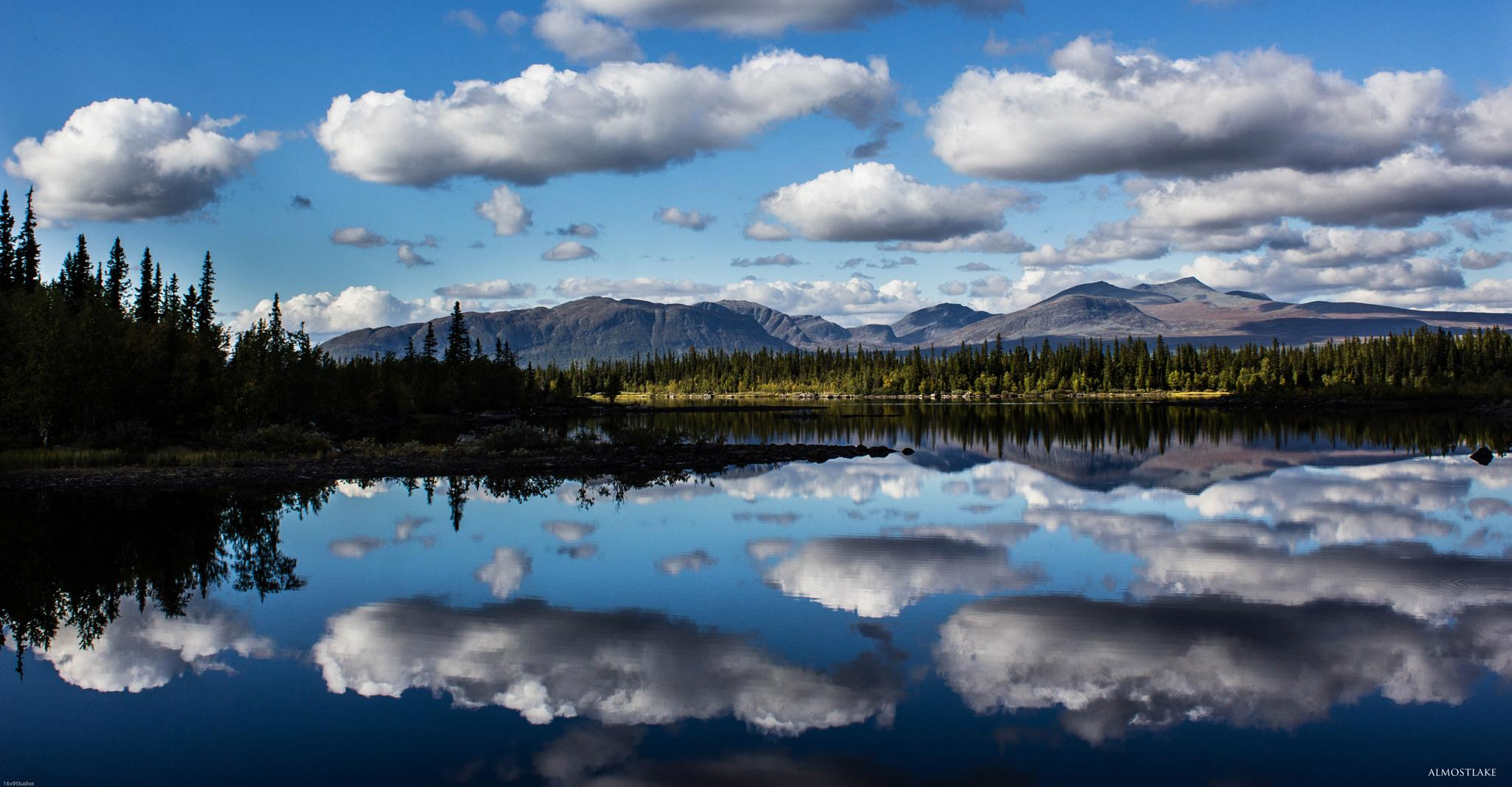 Photo in Landscape #mountain #lake #crystalclear #clouds #blue #summer