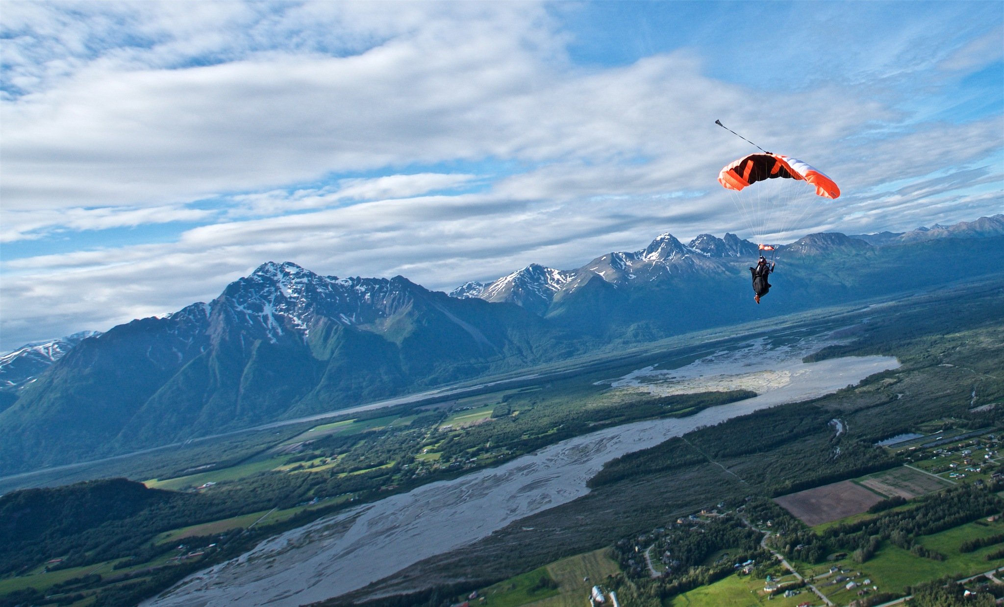Skydiving in Alaksa by Curt Vogelsang