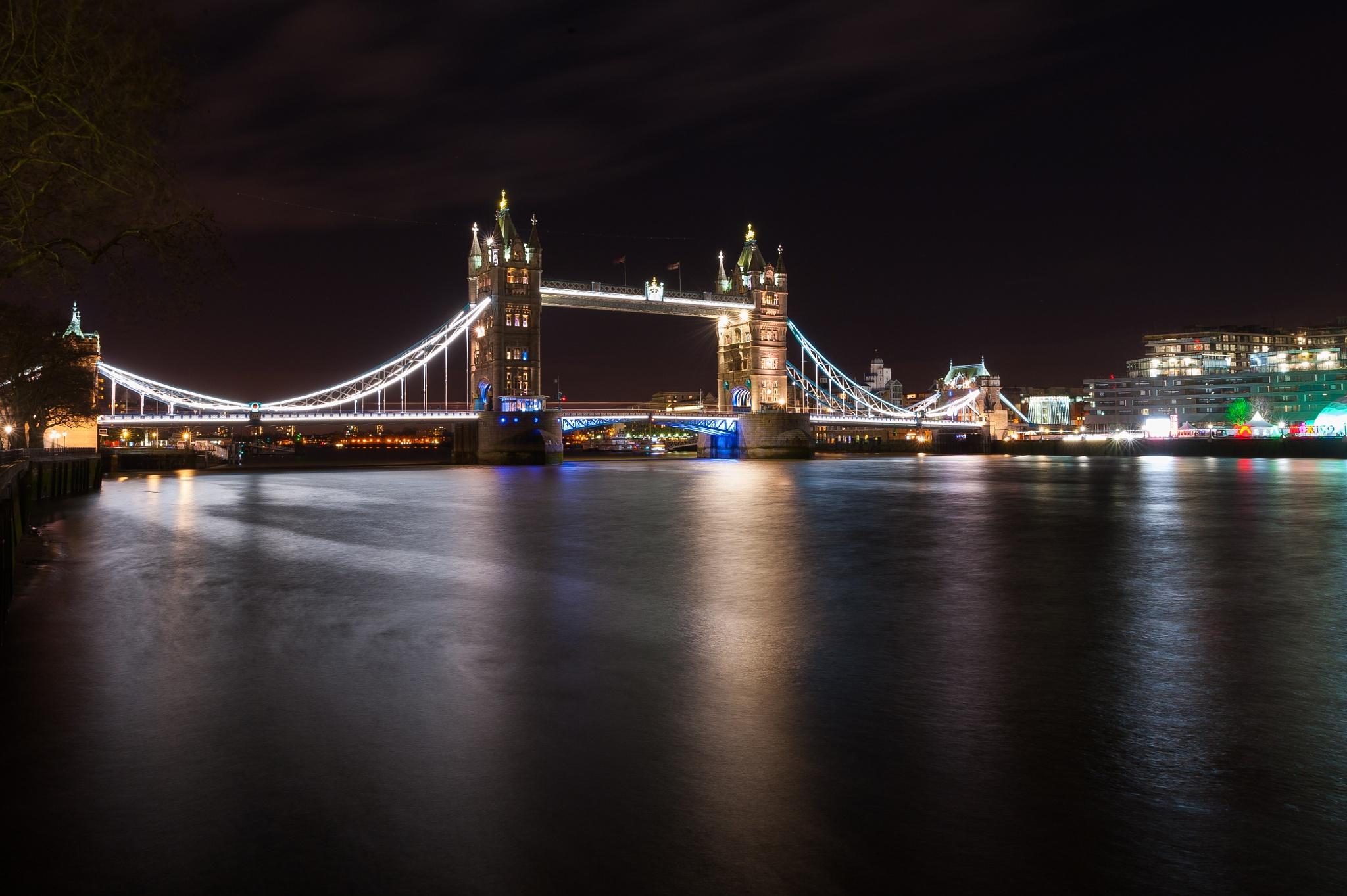 Tower Bridge Lit by SCB
