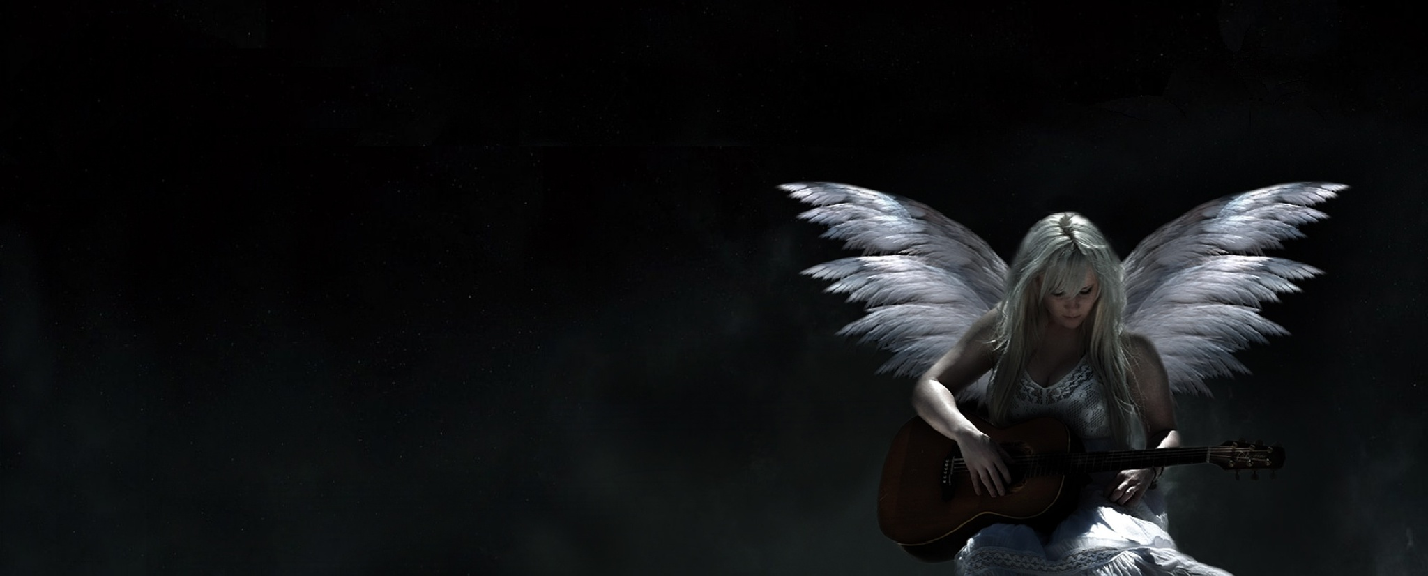 Angel With Guitar Photoshop Art by TheHilaryClark