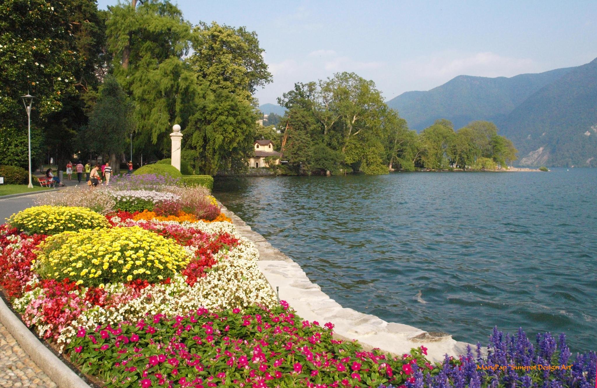 Lake Lugano by Mary Pap