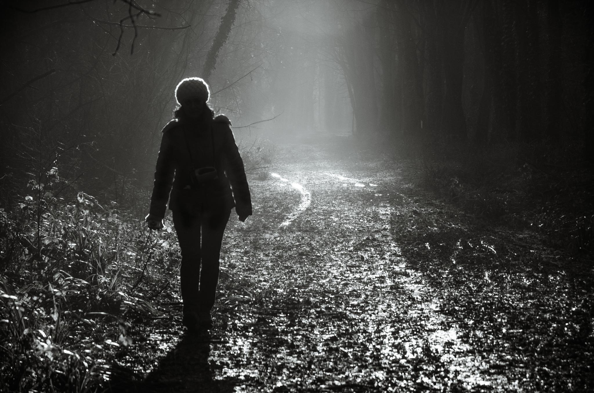 Walking from the light by Mirco Balboni