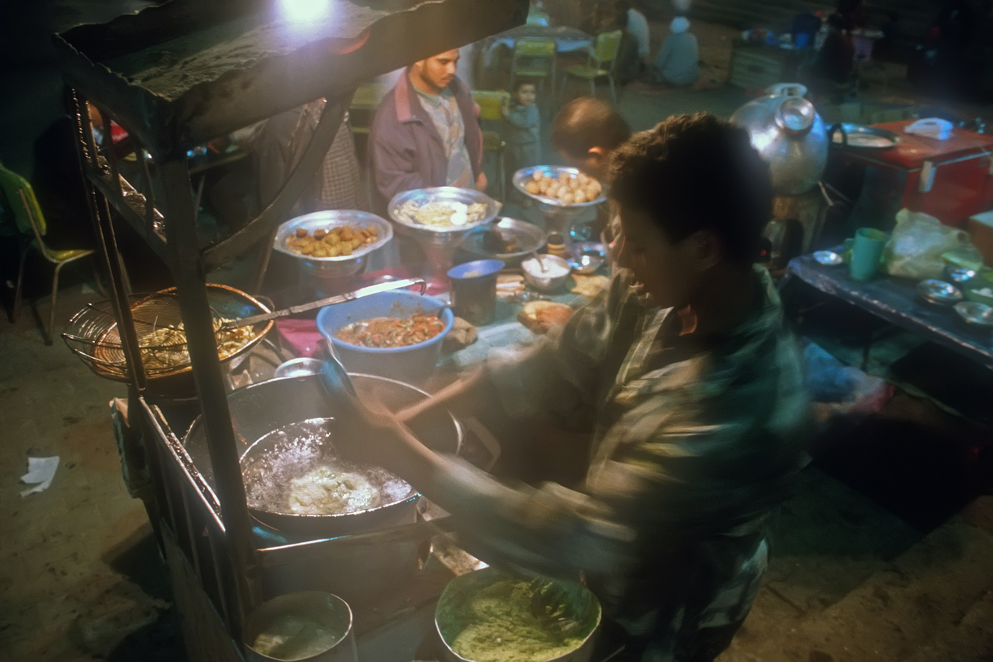 Photo in Travel #egypt #cairo #soek #vender #night #men #food