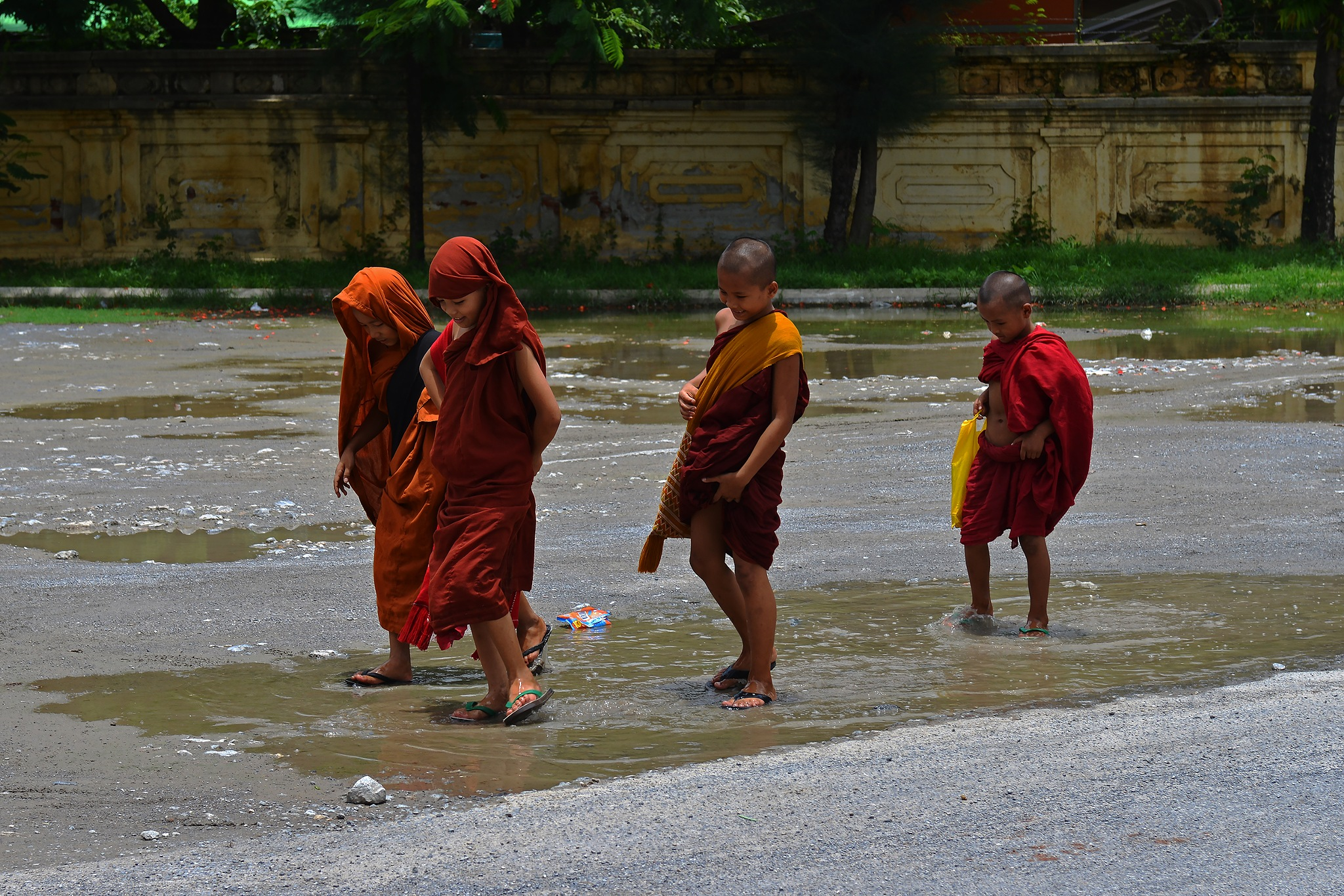 Young Monks by GJ Besselink