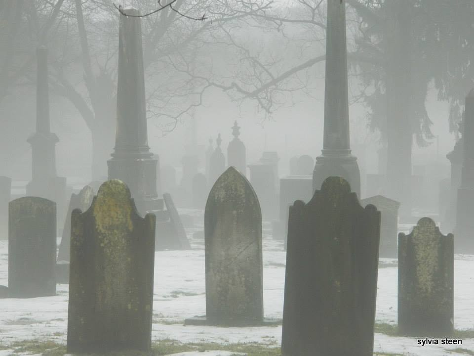 Valley cemetary in winter by owllady