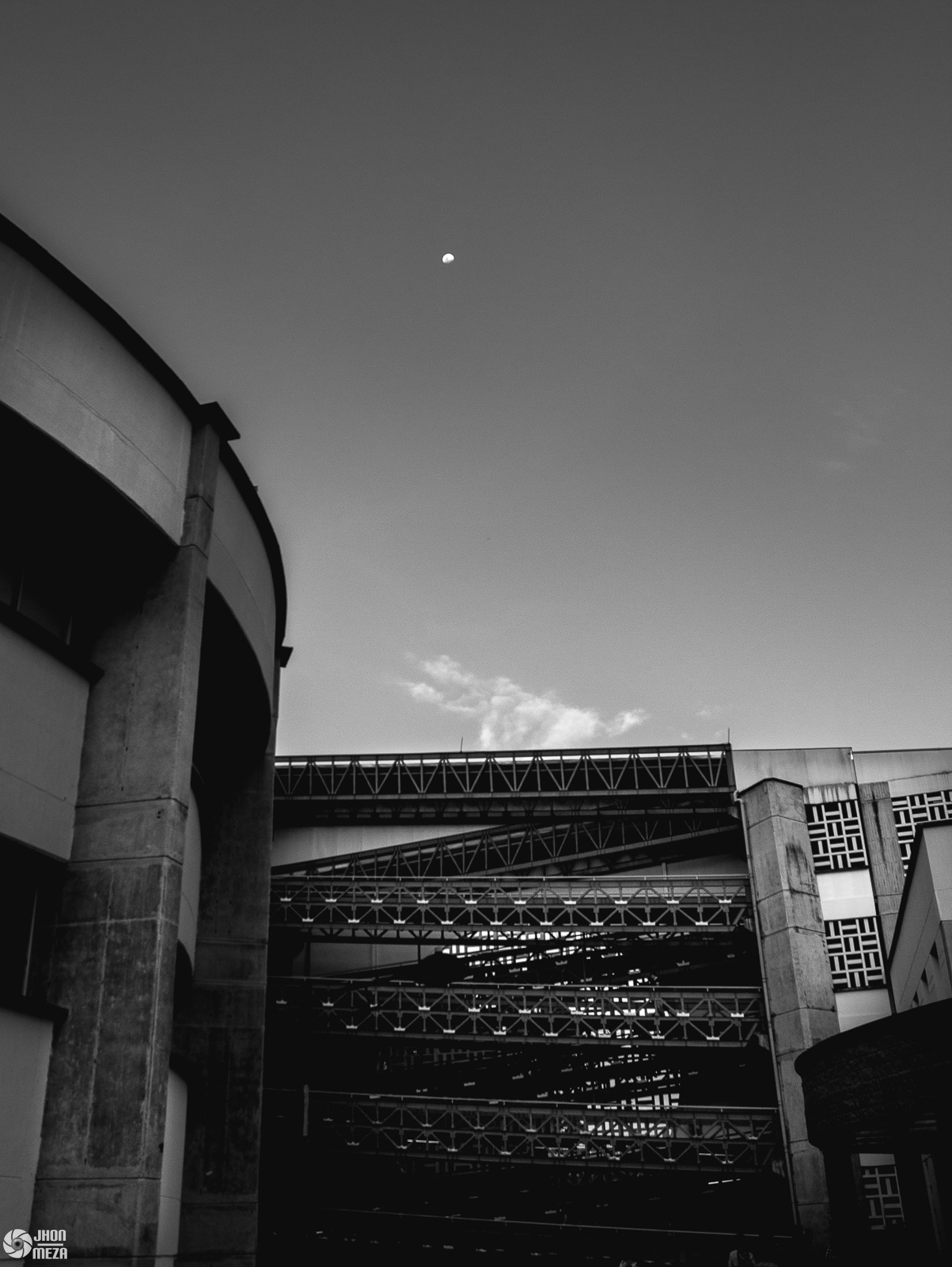 Black and white and the moon by Jhon Meza