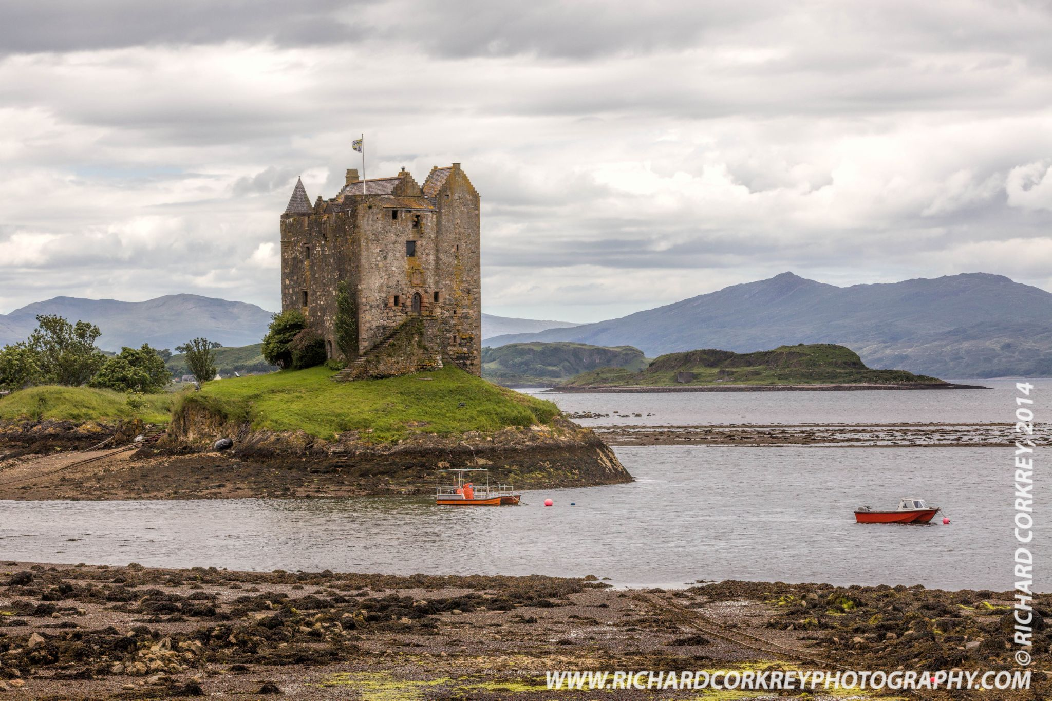 Castle Stalker from Portnacroish by Richard Corkrey