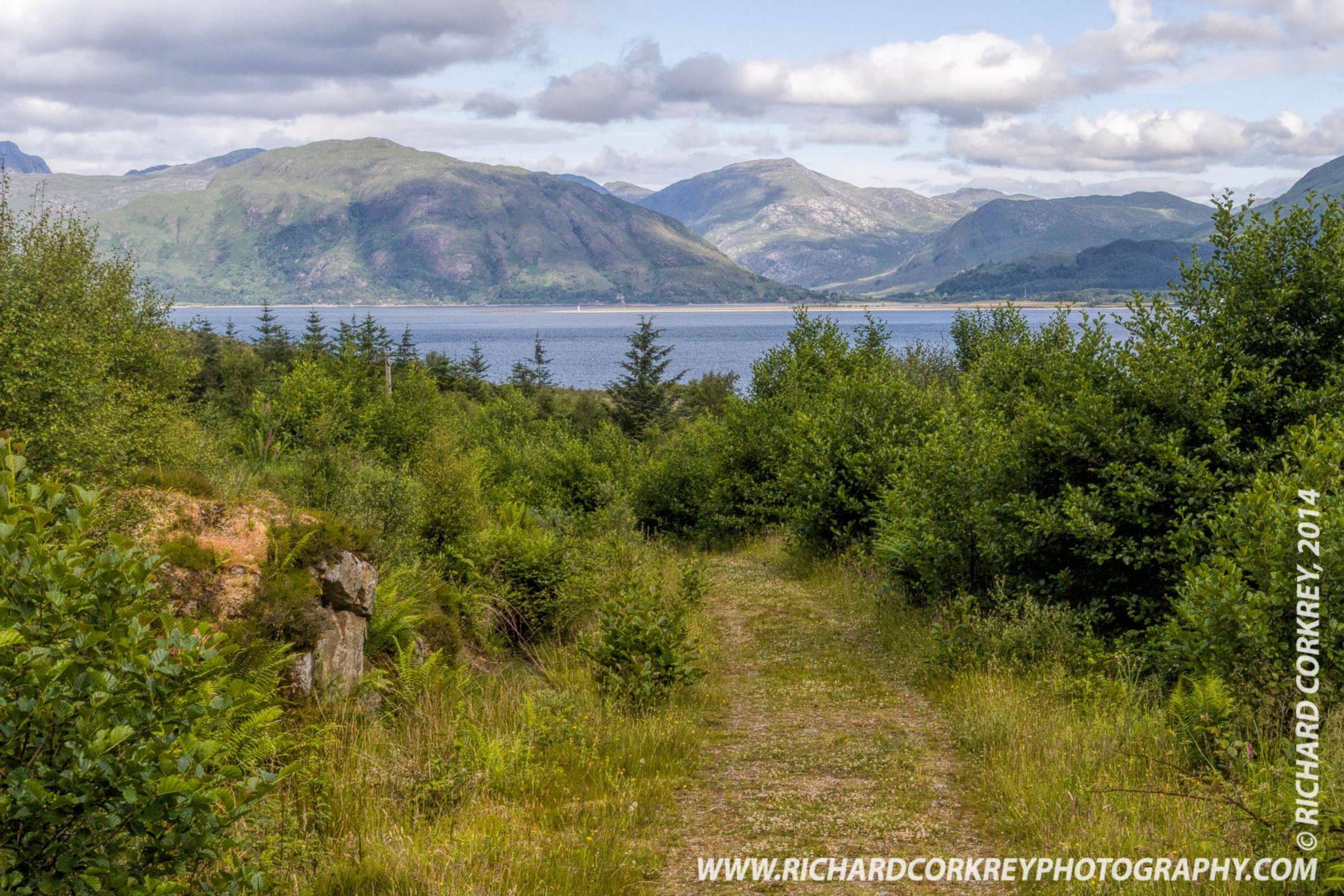 Leitir Mhor towards Loch Linnhe, and Glen Gour by Richard Corkrey