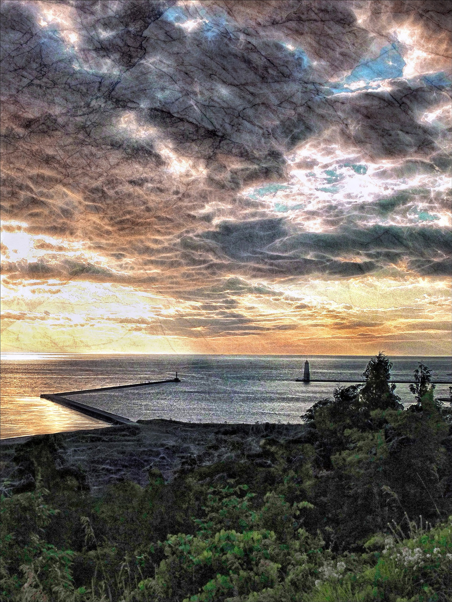 Lake Michigan from an Overlook by Bob Yankle