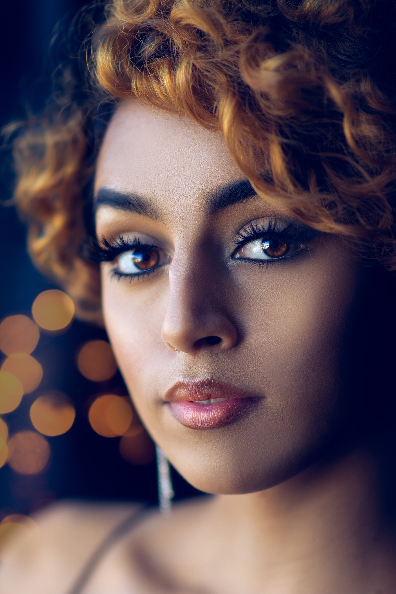 Photo in Portrait #portrait #carina mckee photography #nikon #nikkor #glamour #face #girl #woman #eyelashes #eyes