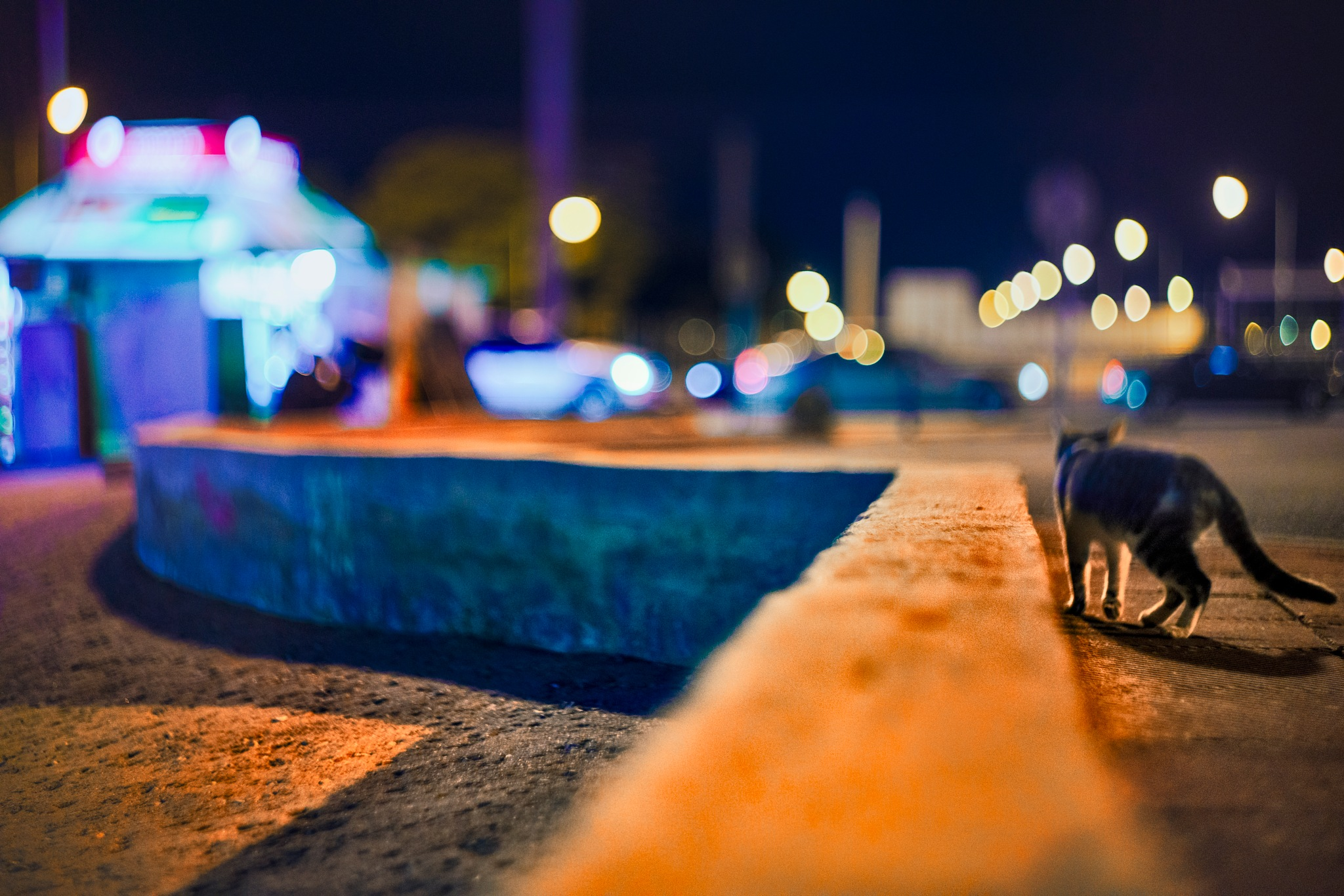 Athens night catwalk by Stathis Floros
