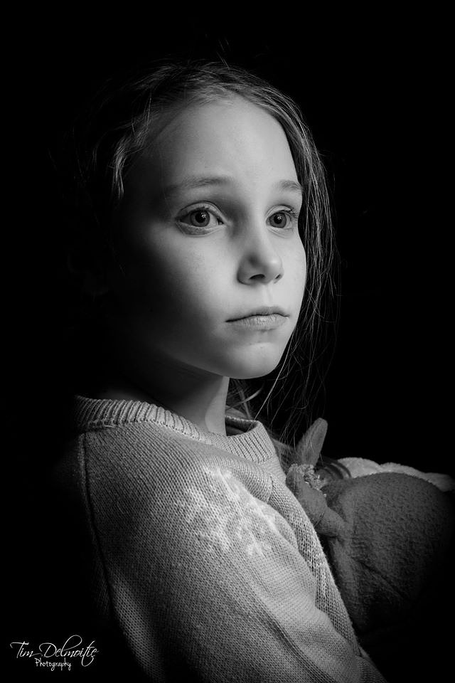 Photo in Portrait #girl #strobisme #black and white #b&w #zwart wit #zwart #wit #black #white #young girl #pose #blond