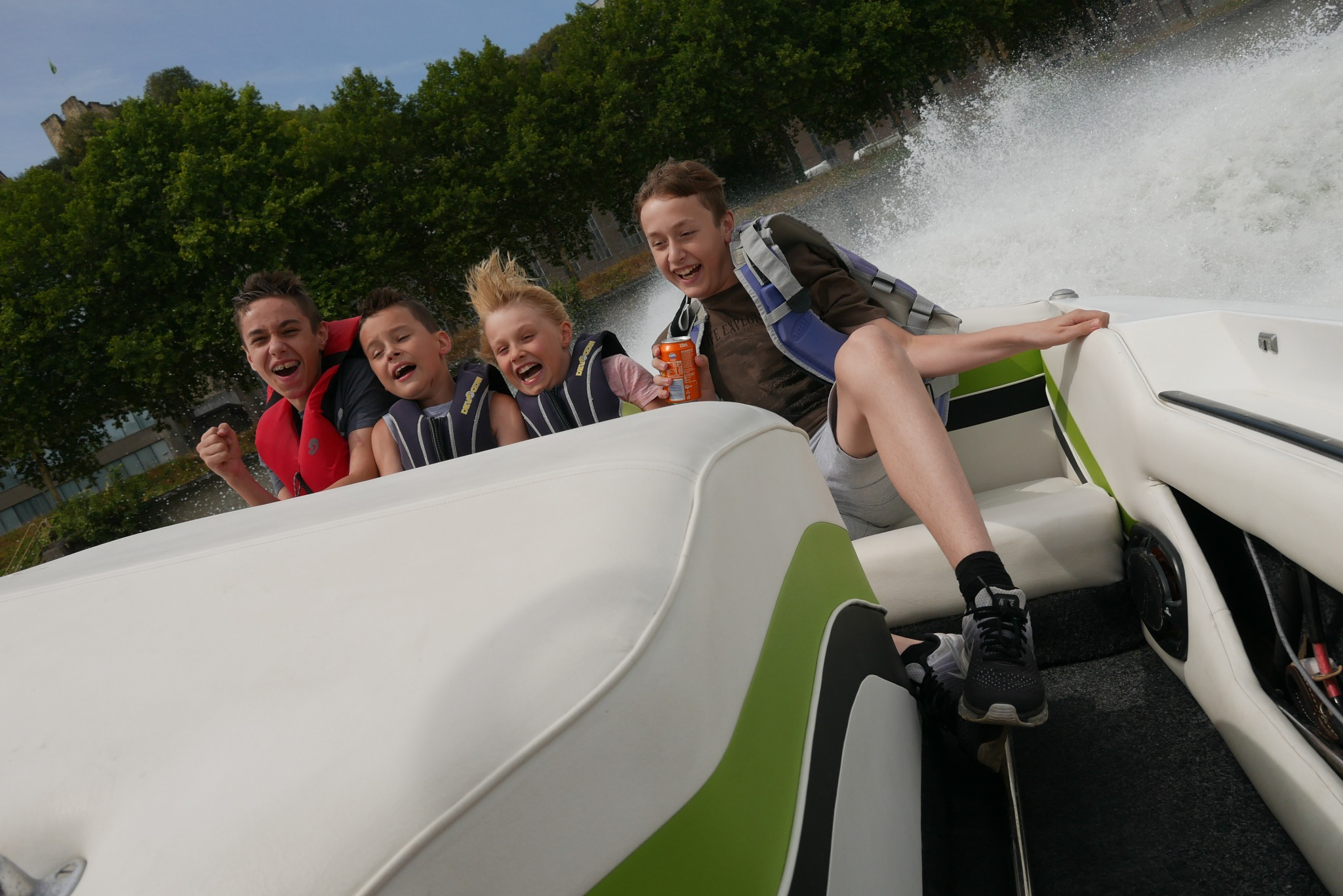 Speedboatfun with the kids by StefanJansen