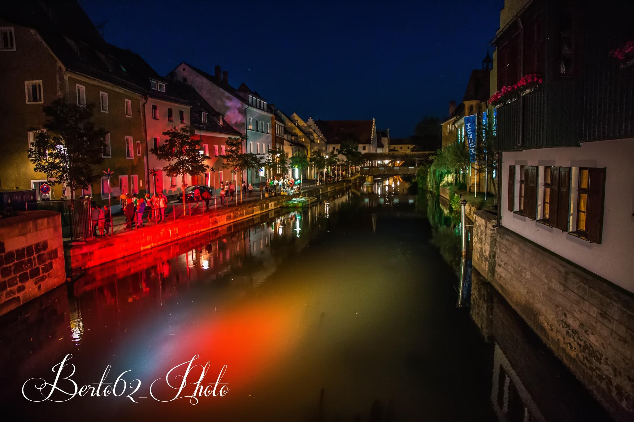 reflected lights at night by Bartolomeo Scanu