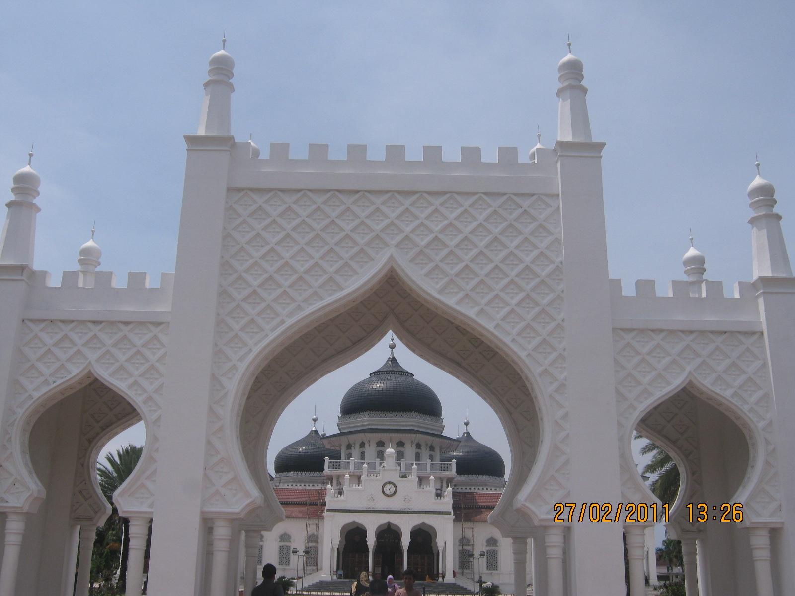 Baiturrahman, Great Mosque of Aceh, Indonesia by Khairun Amala