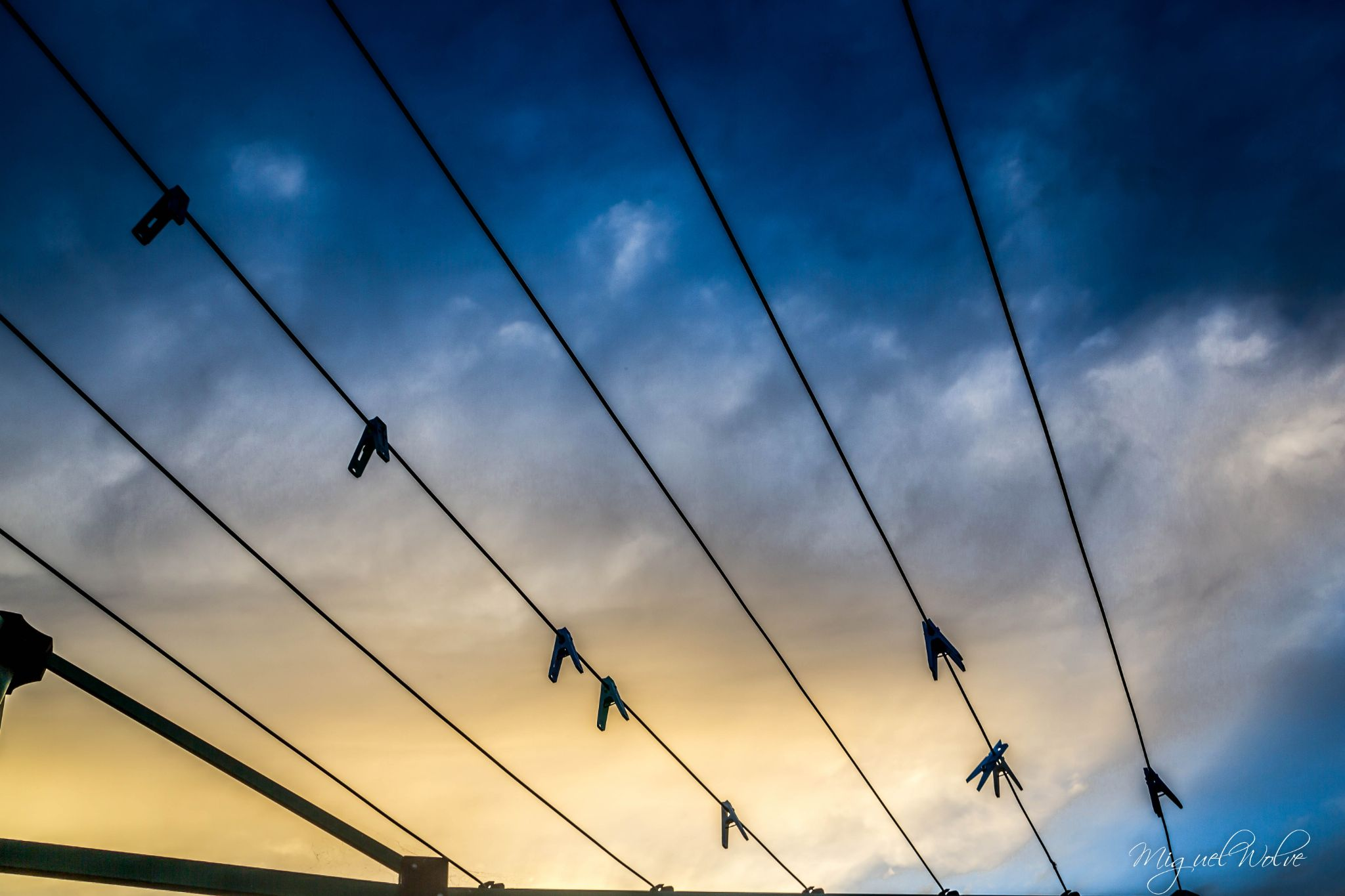 clothes line sky  by miguelwolve
