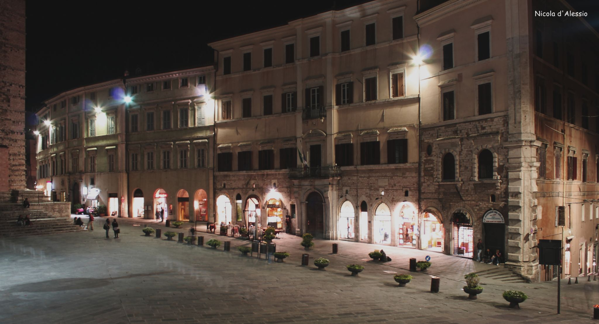 Perugia by night by dalessionicola