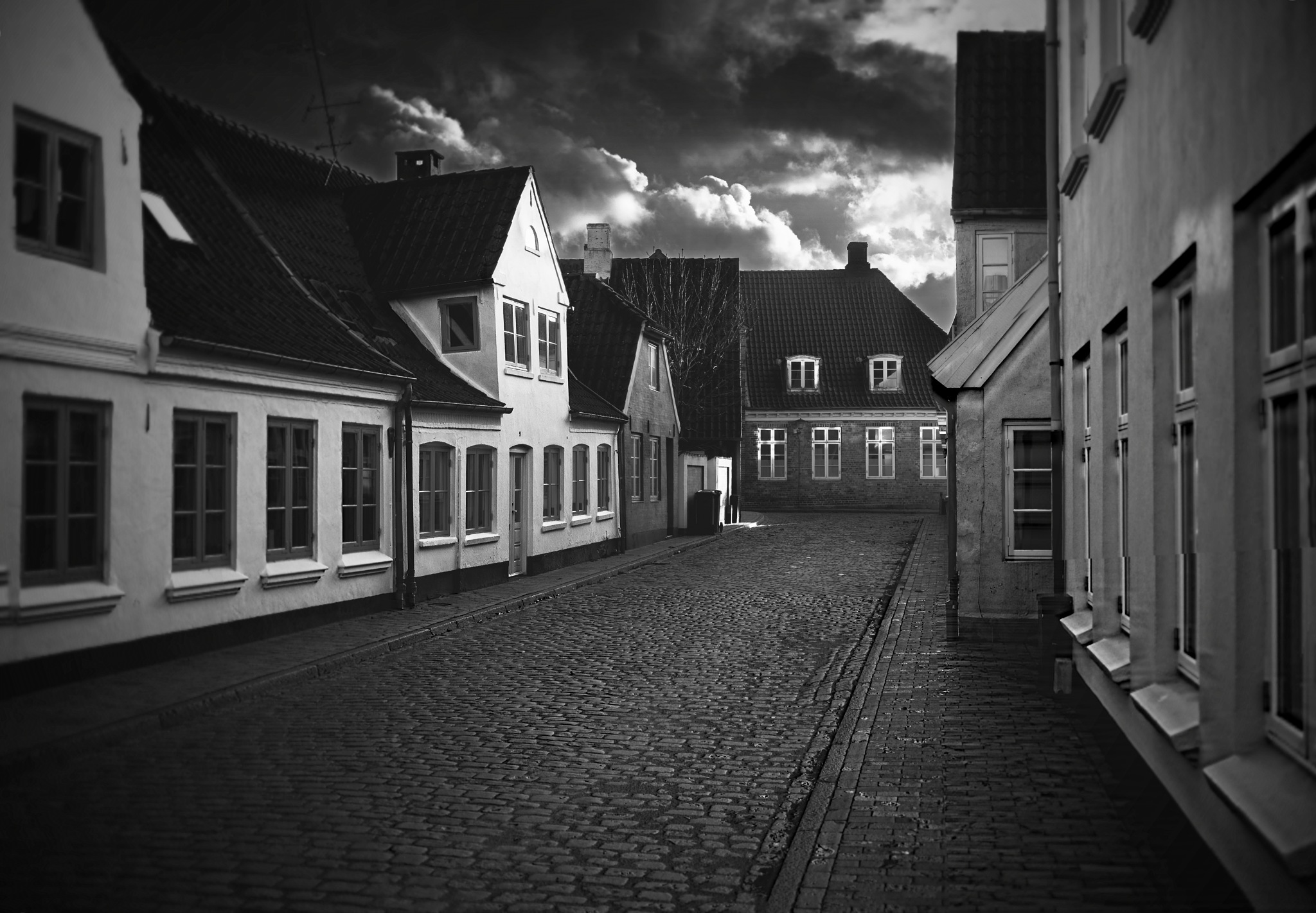 the empty streets  by Black cat photography
