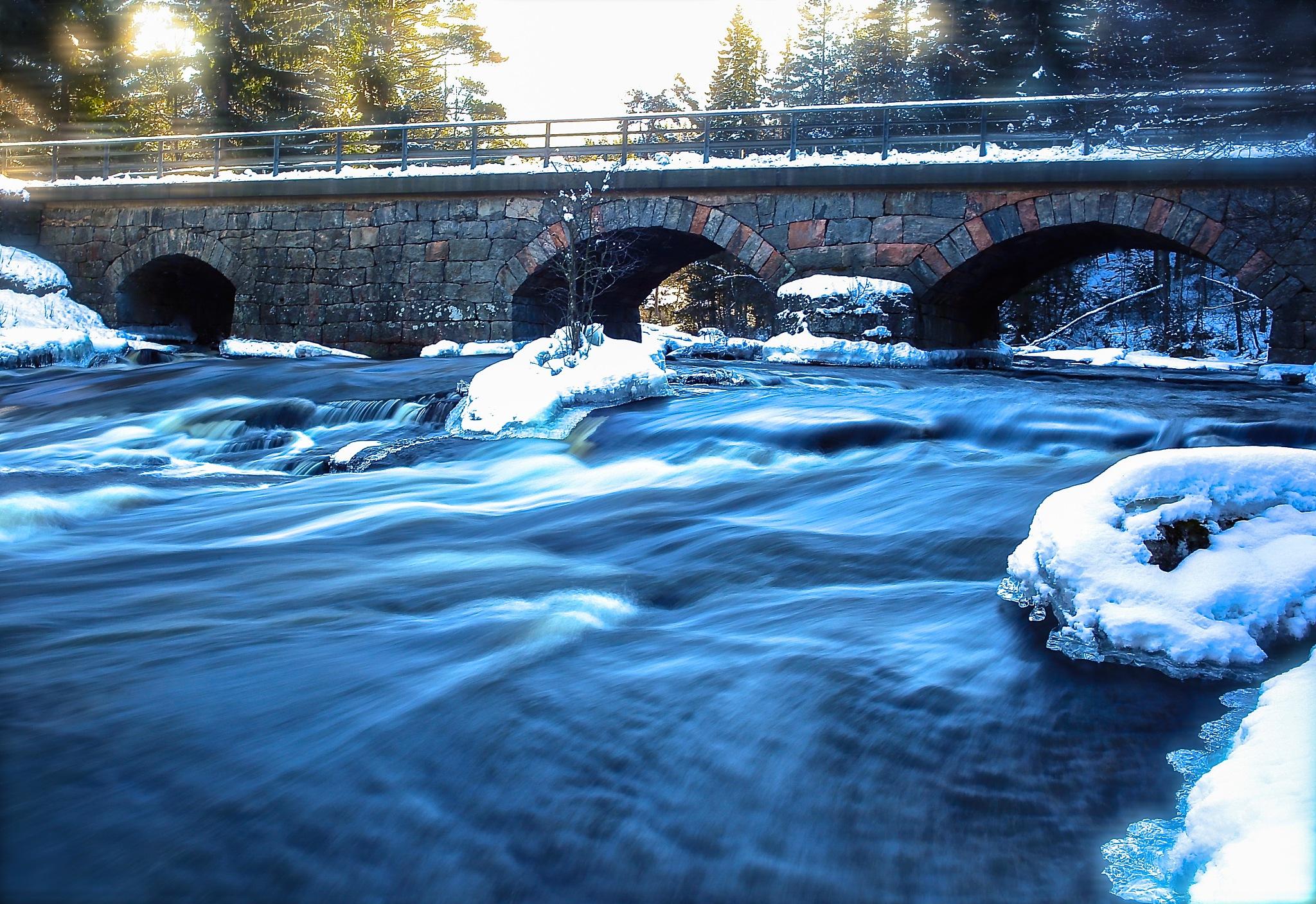 Old bridge in wintermood by Bildmartin