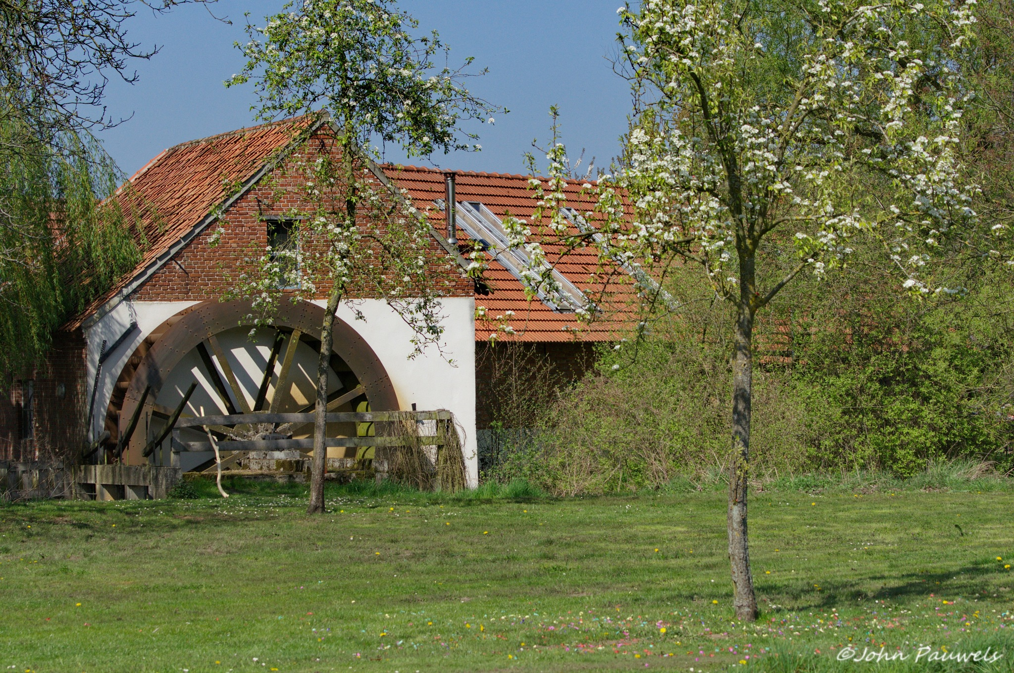 The old water mill. by John Pauwels