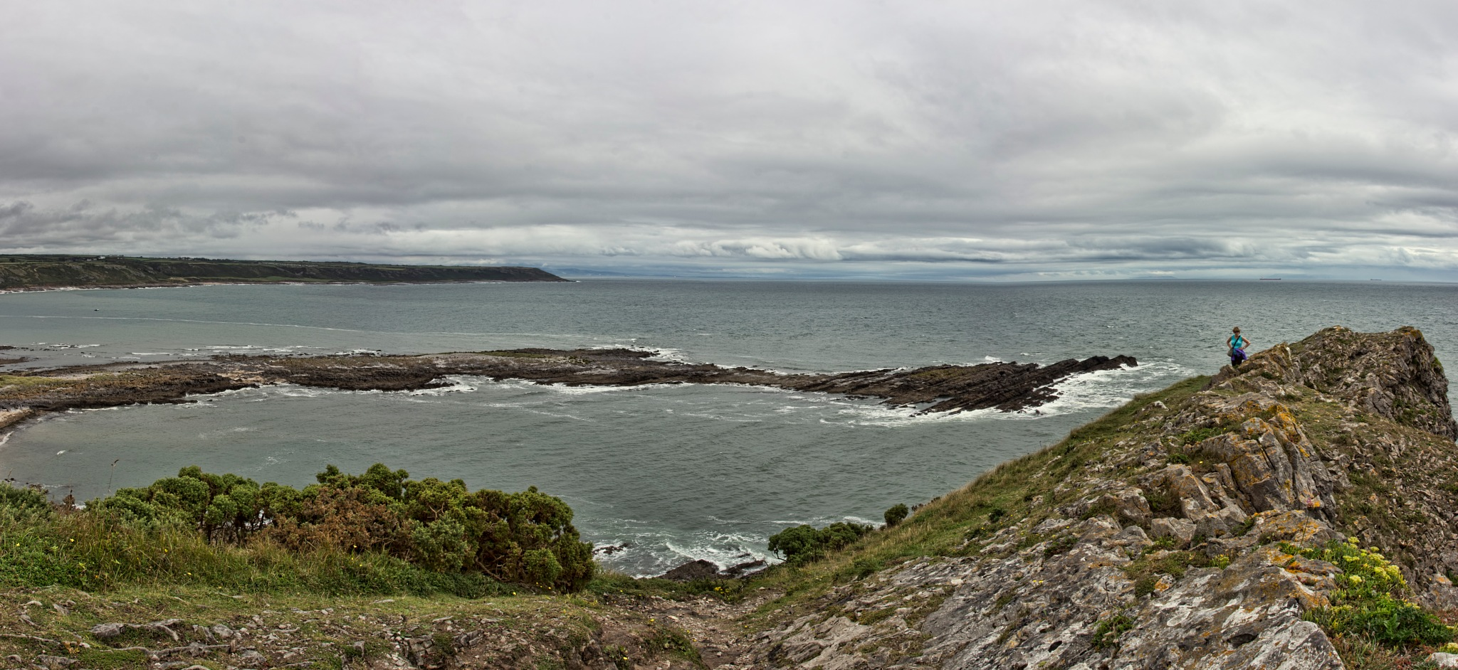 Port Eynon panorama by plw1053