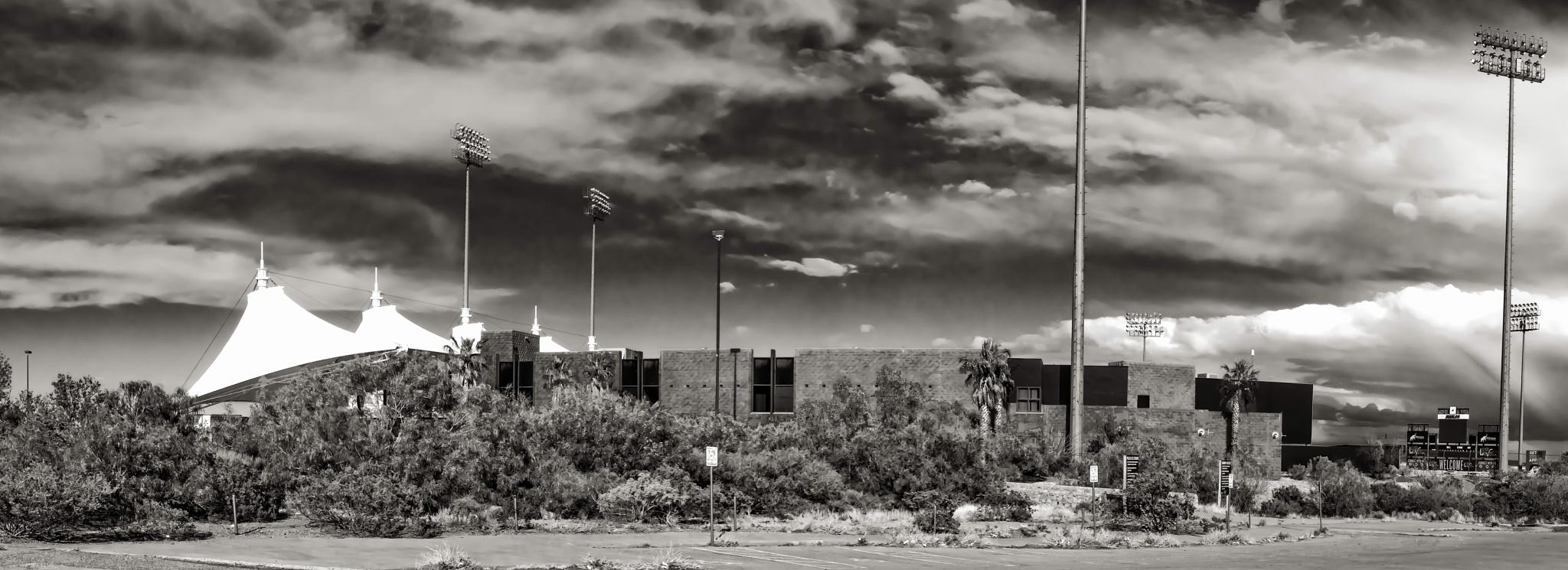 Cohen Stadium-El Paso, Texas by BarbMcCourt