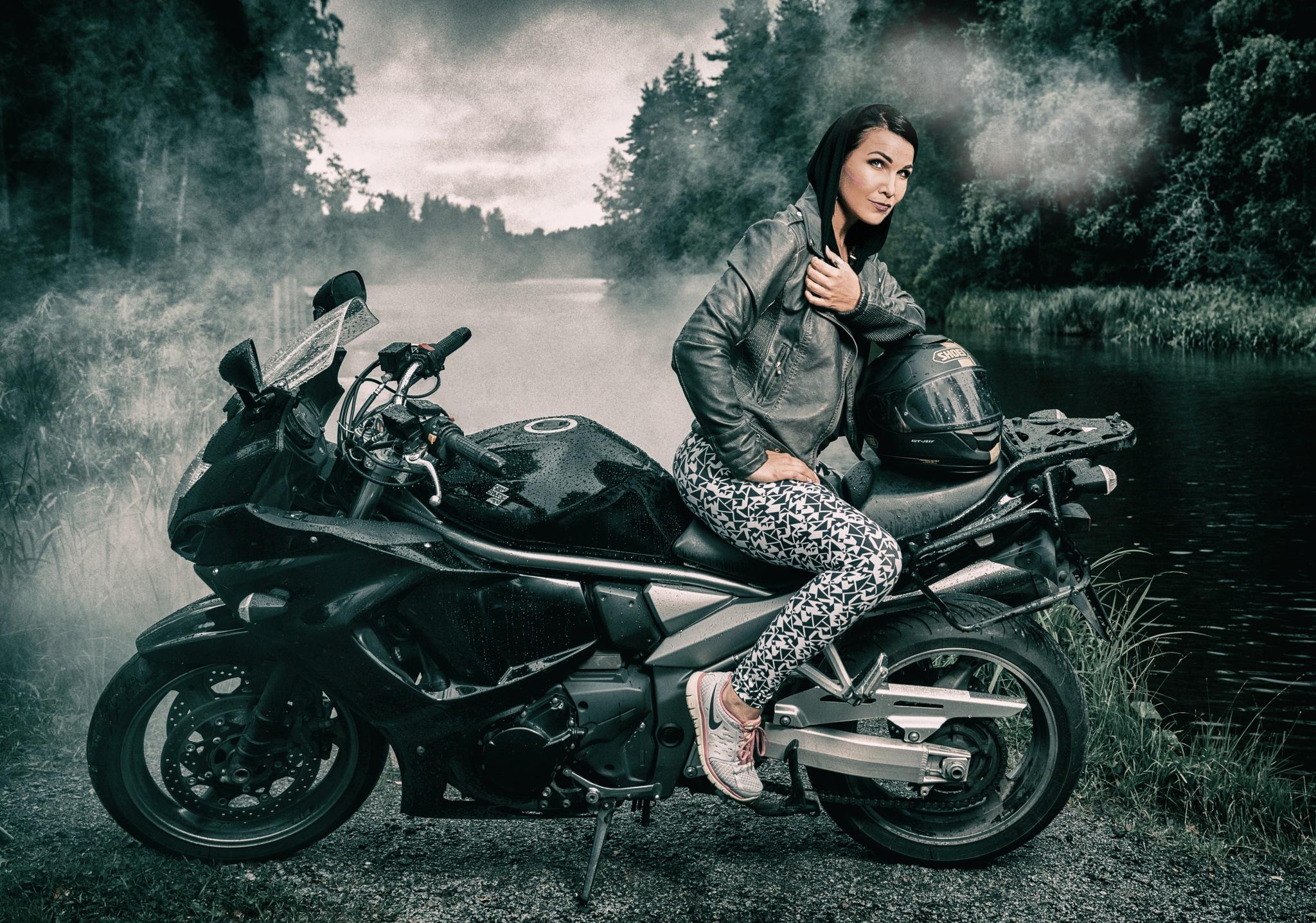 The biker by Veli-Matti Launio