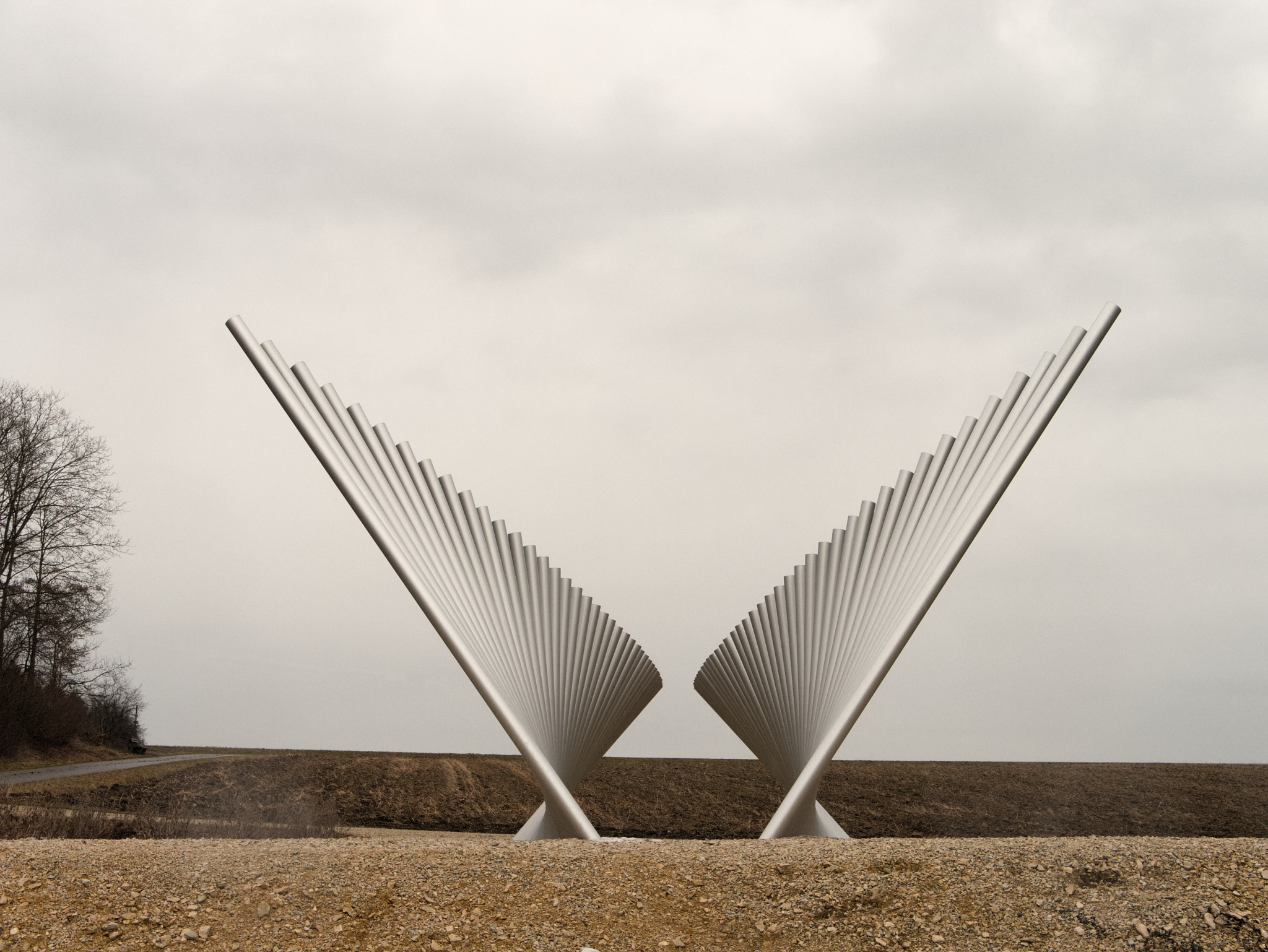 narrow and wide horizon sculpture by Mako7374