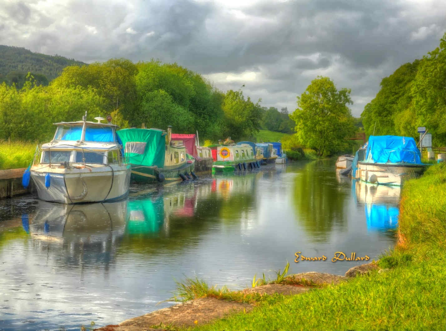 Boats and barges at rest. by EdwardDullard