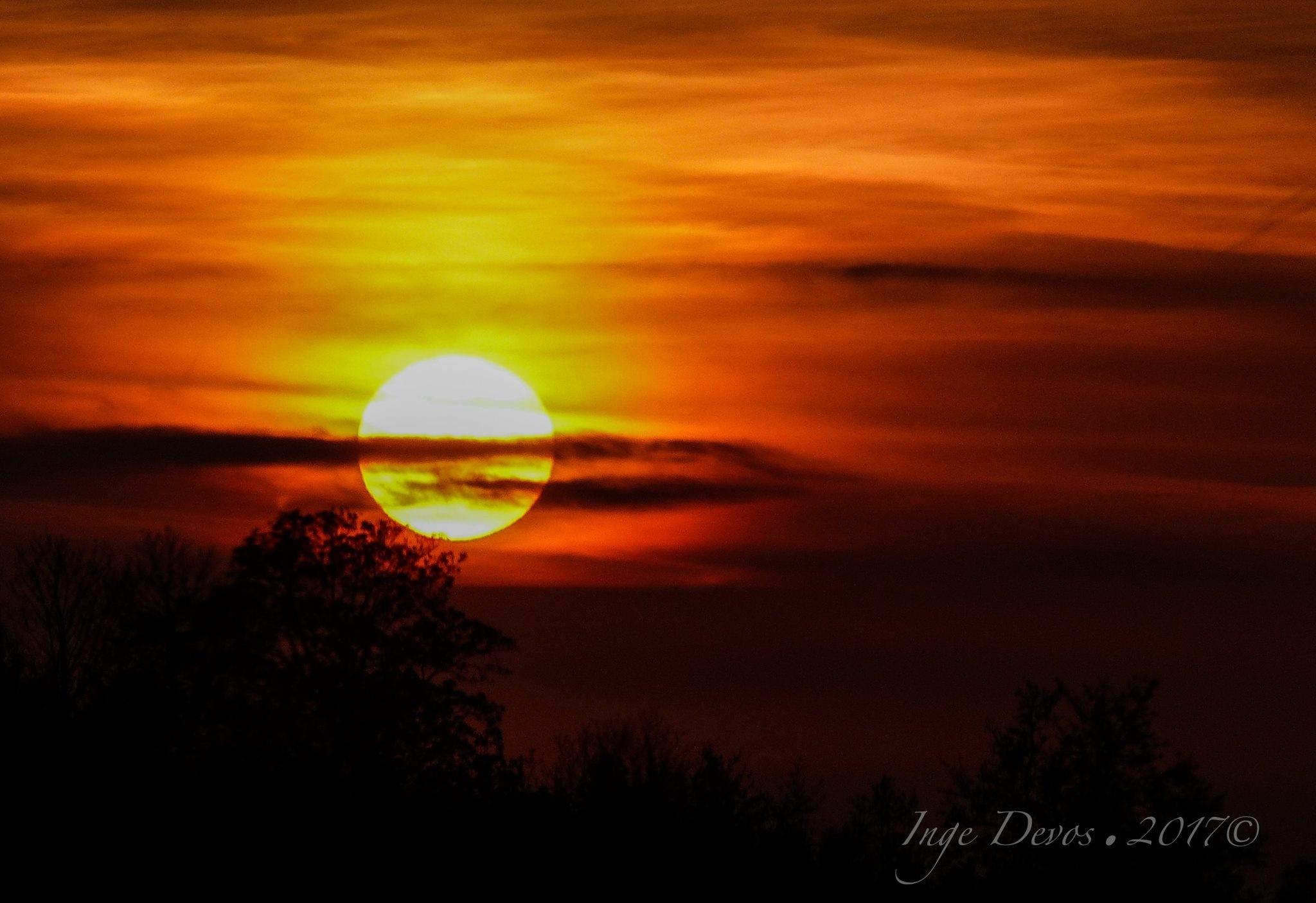Sunset ... on the road  by Inge Devos