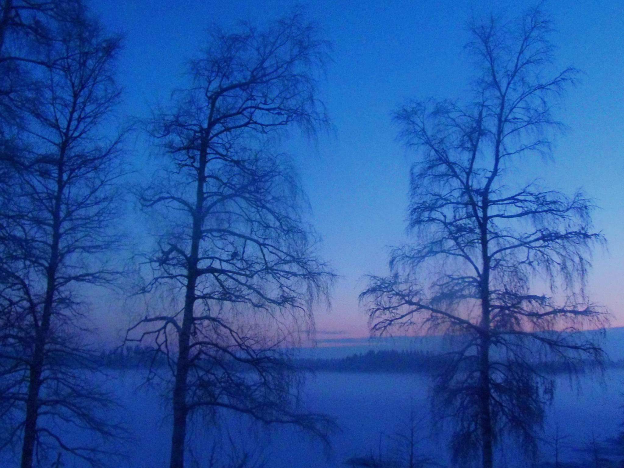 Blue moment - lake haze - sunset - sininen hetki by laura.kamil