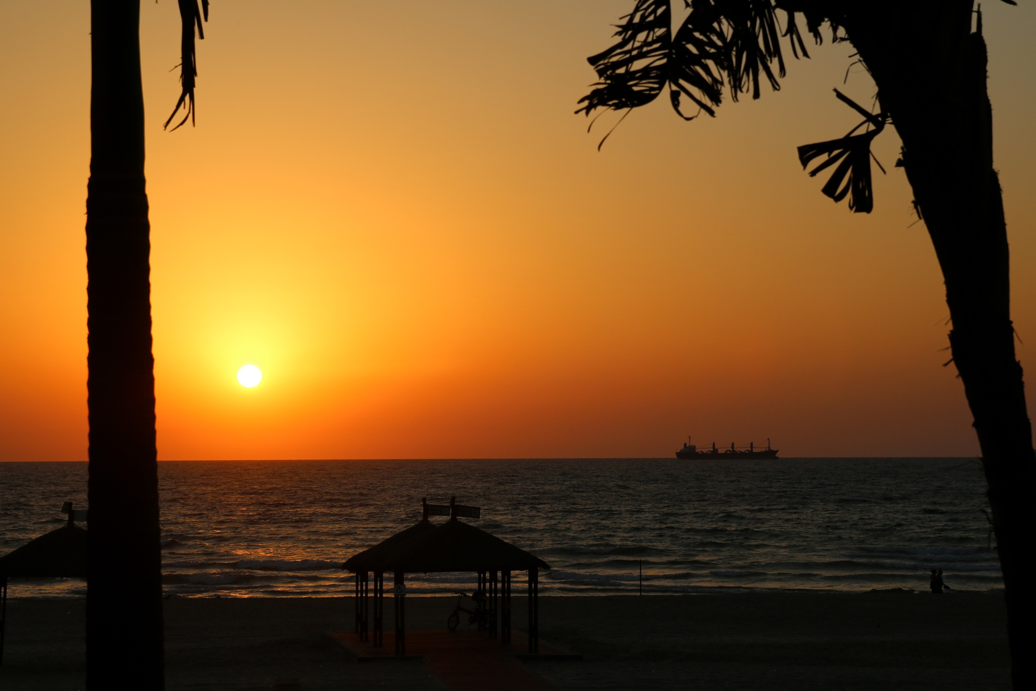 Sunset on the beach by Boris V.