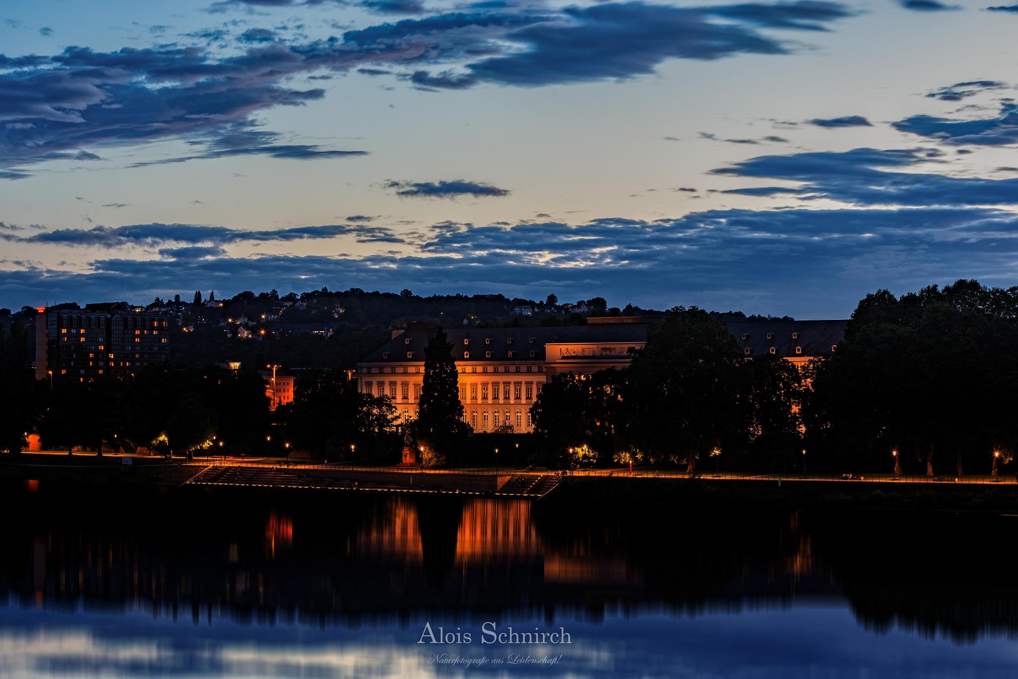 Koblenz at Evening! by Alois Schnirch
