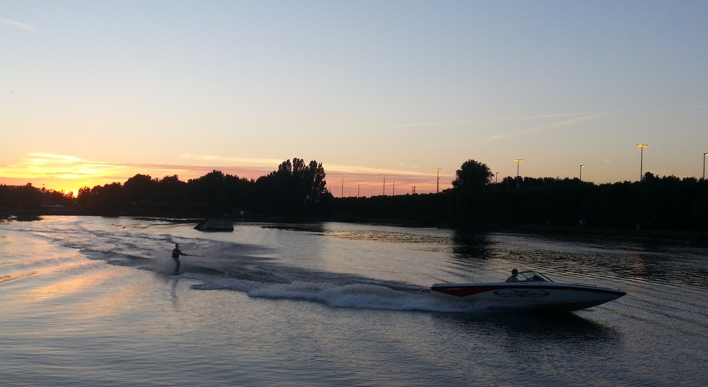 Sunset Waterski by Dieter Kepler
