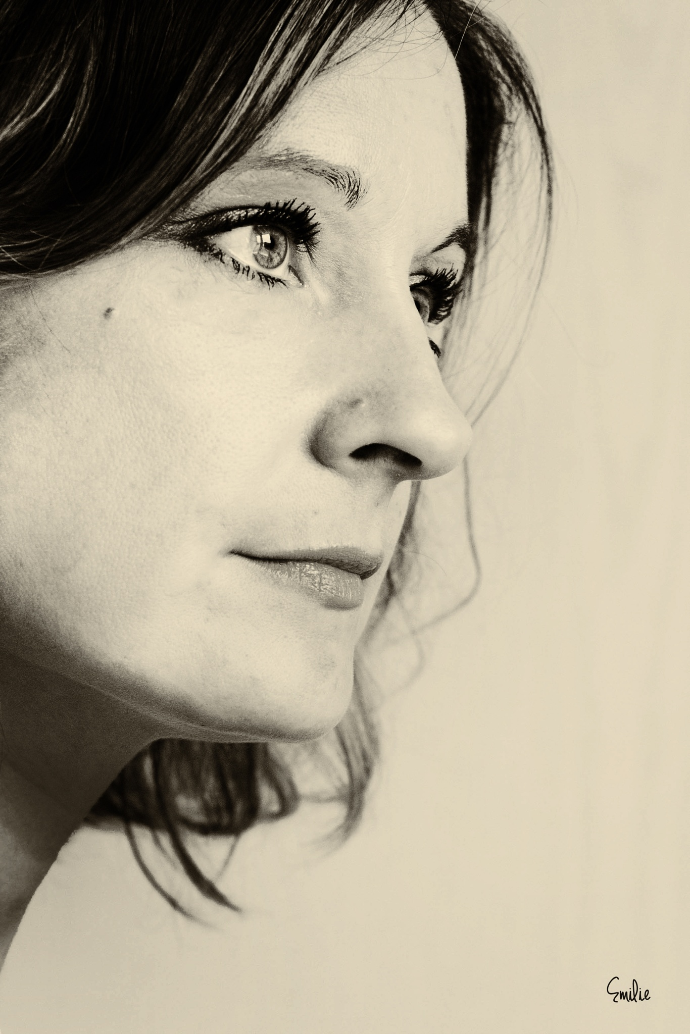 portrait noir et blanc by EmilyBy