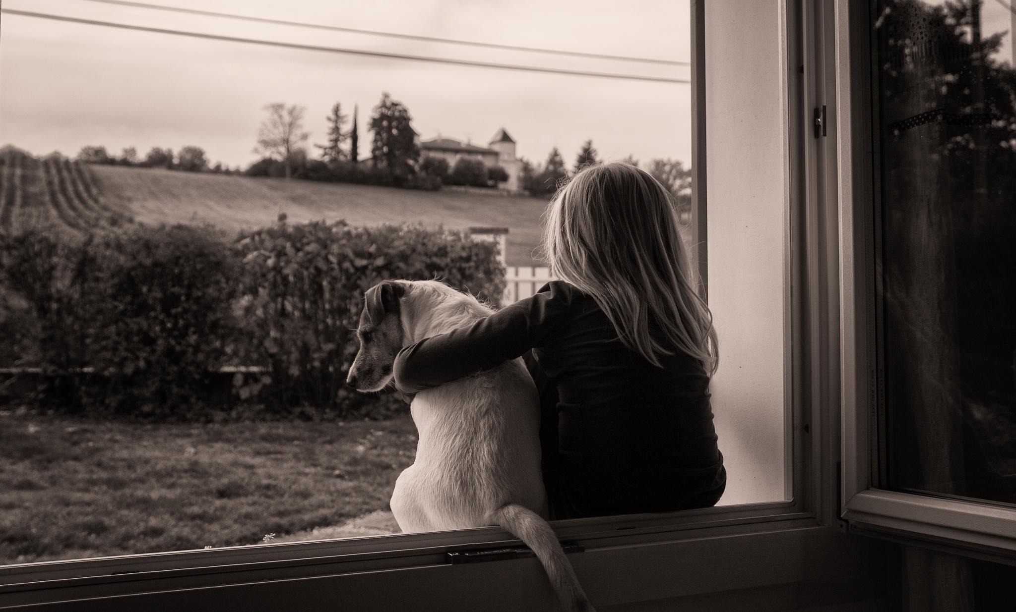 la petite fille et son chien by EmilyBy