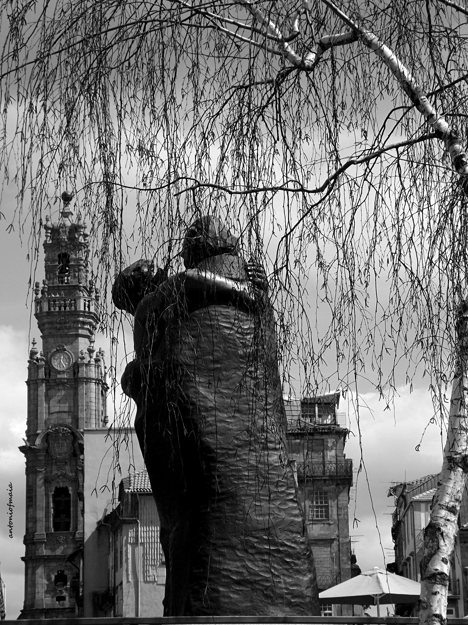 Photo in Cityscape #clérigos tower #oporto #camilo castelo branco #sculpture