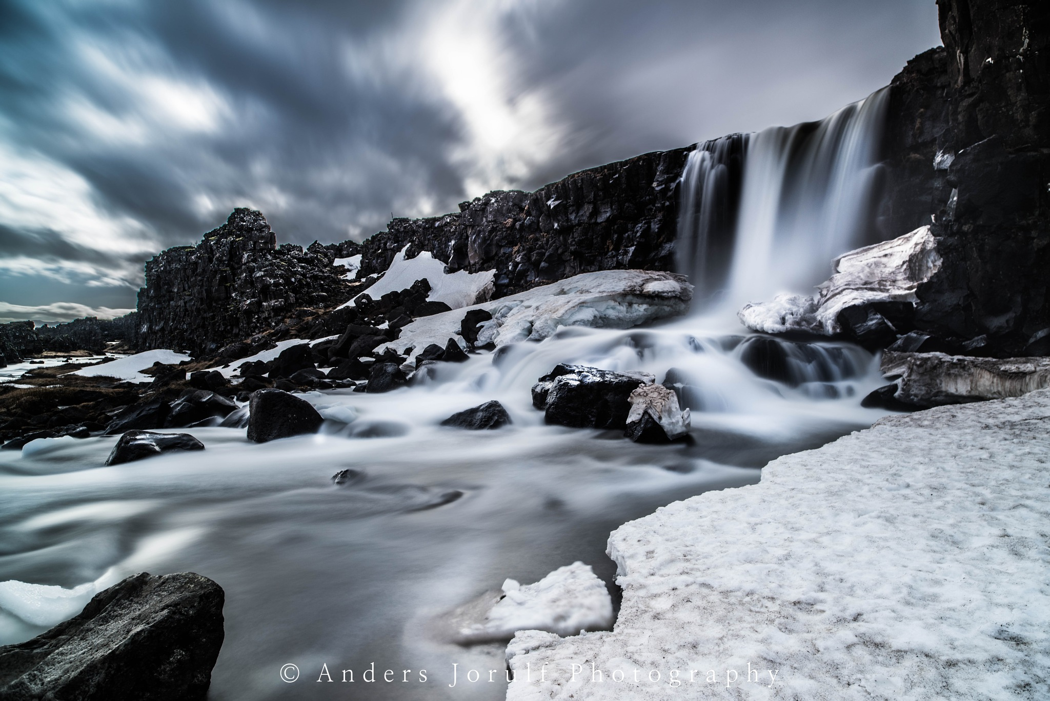 Iceland waterfall by Anders Jorulf