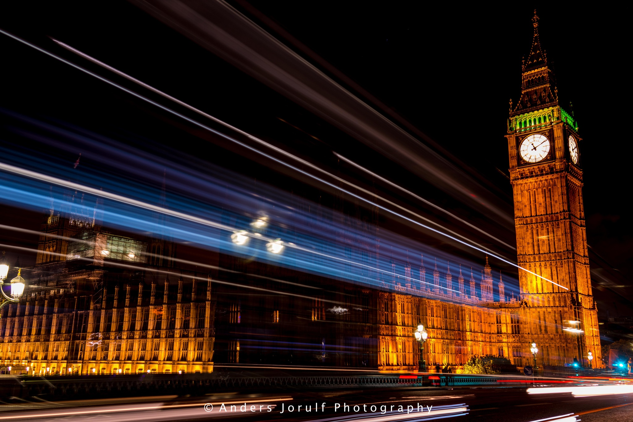 Big Ben at Night by Anders Jorulf