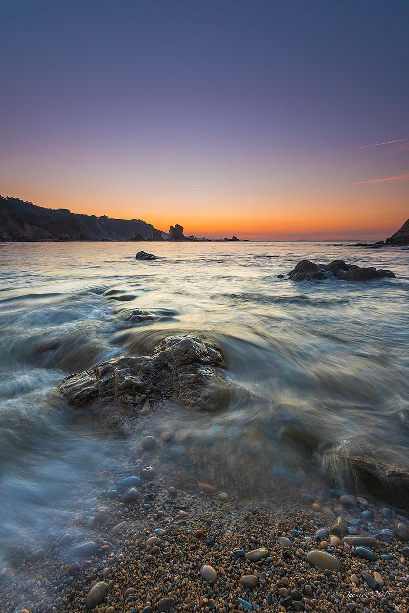 Photo in Landscape #playa del silencio #atardecer #sunset #olas #waves #rocas #mar #sea #seascape #landscape #paisaje #costa #asturias #spain