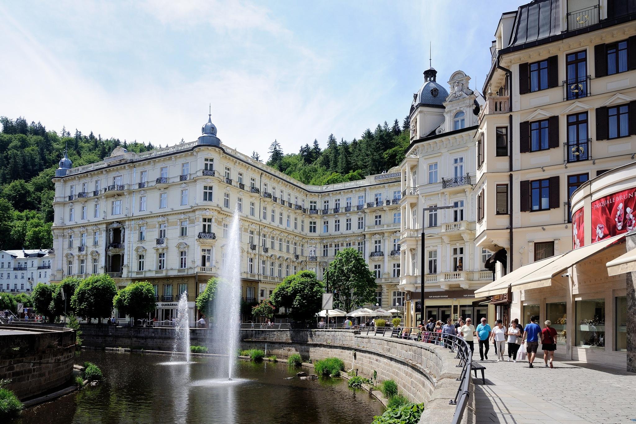 Karlovy Vary III by Zdenek Krchak