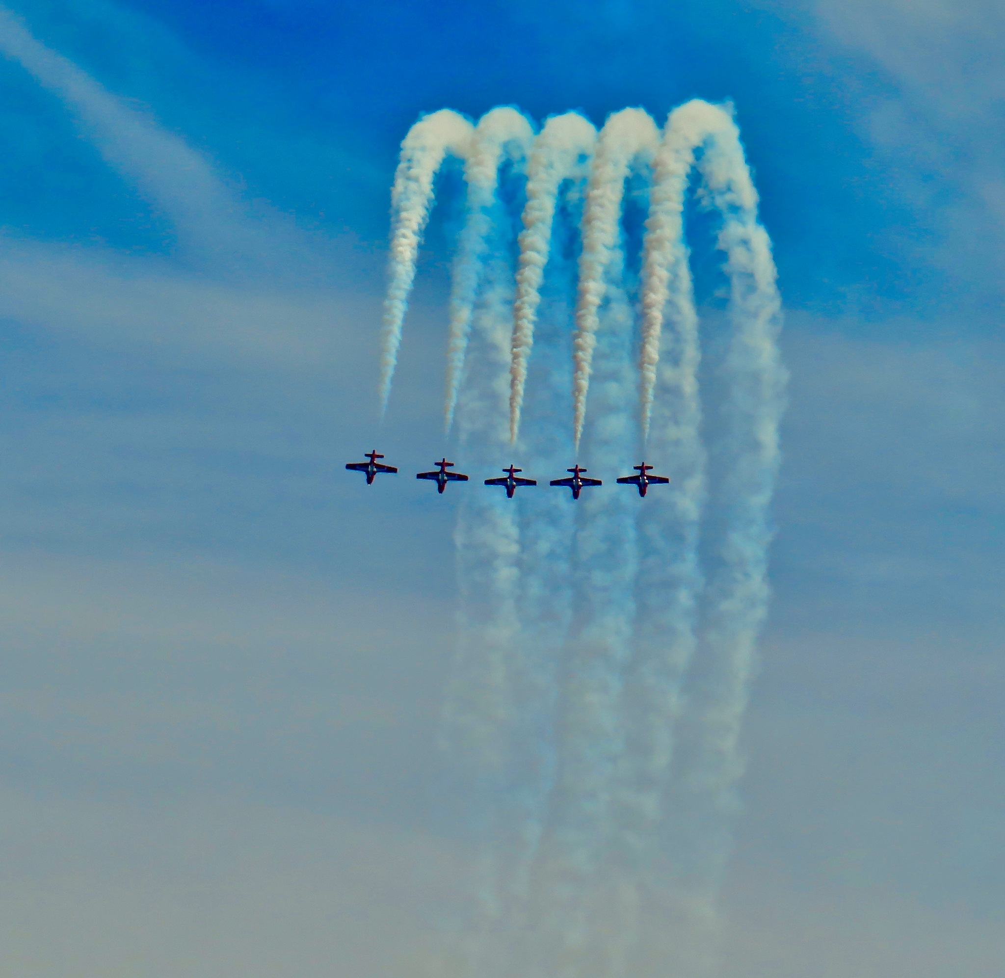 the fly boys are back in town today for the annual air show !! by David Devion