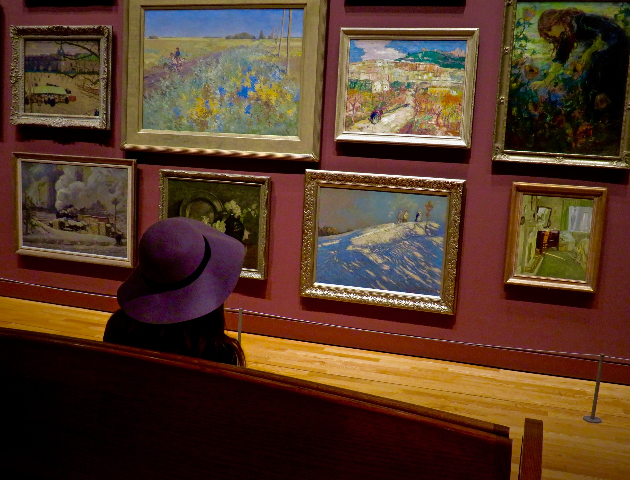 admiring the different scenes n points of artistic view by David Devion